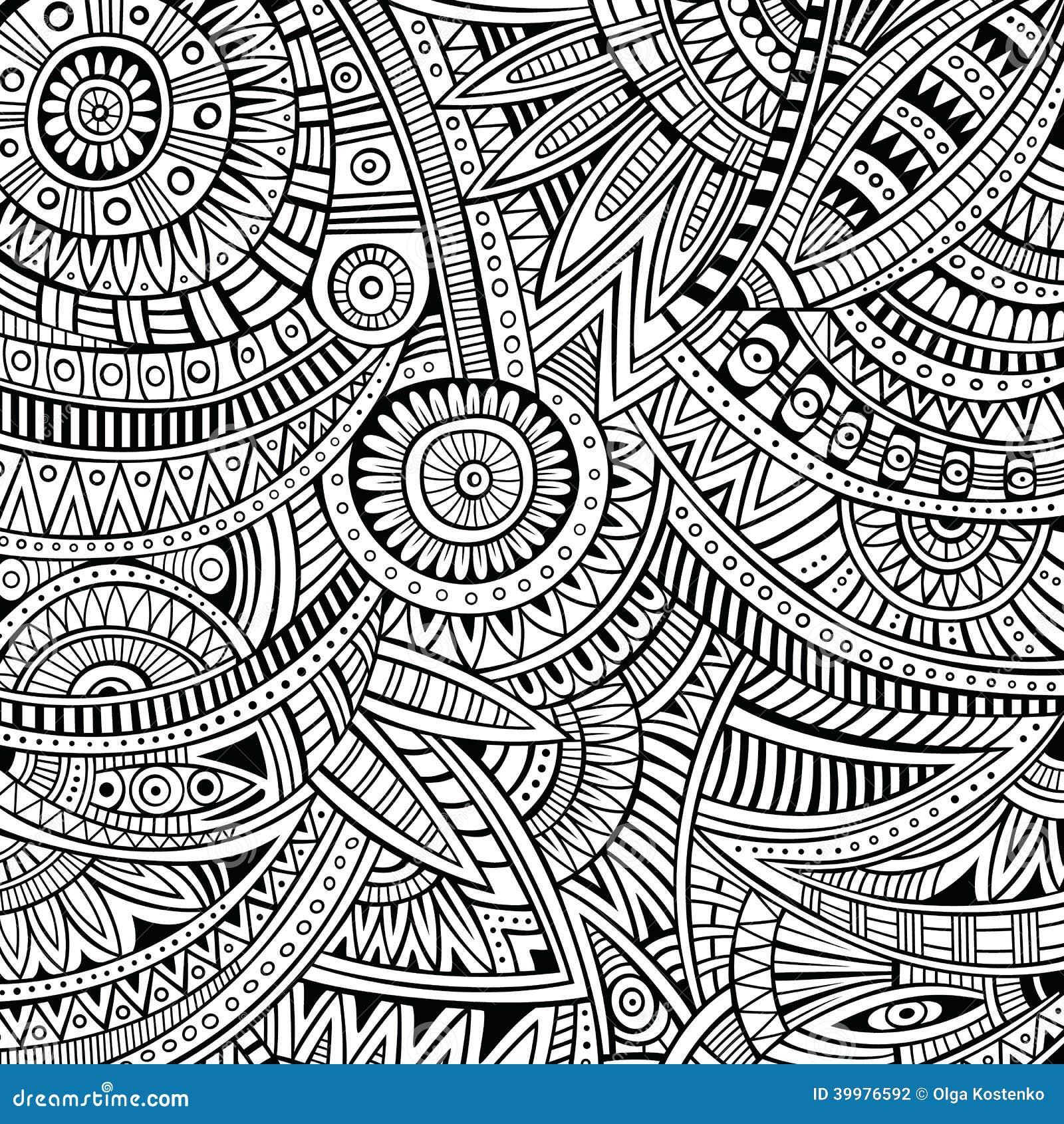Abstract vector stammen etnisch patroon als achtergrond