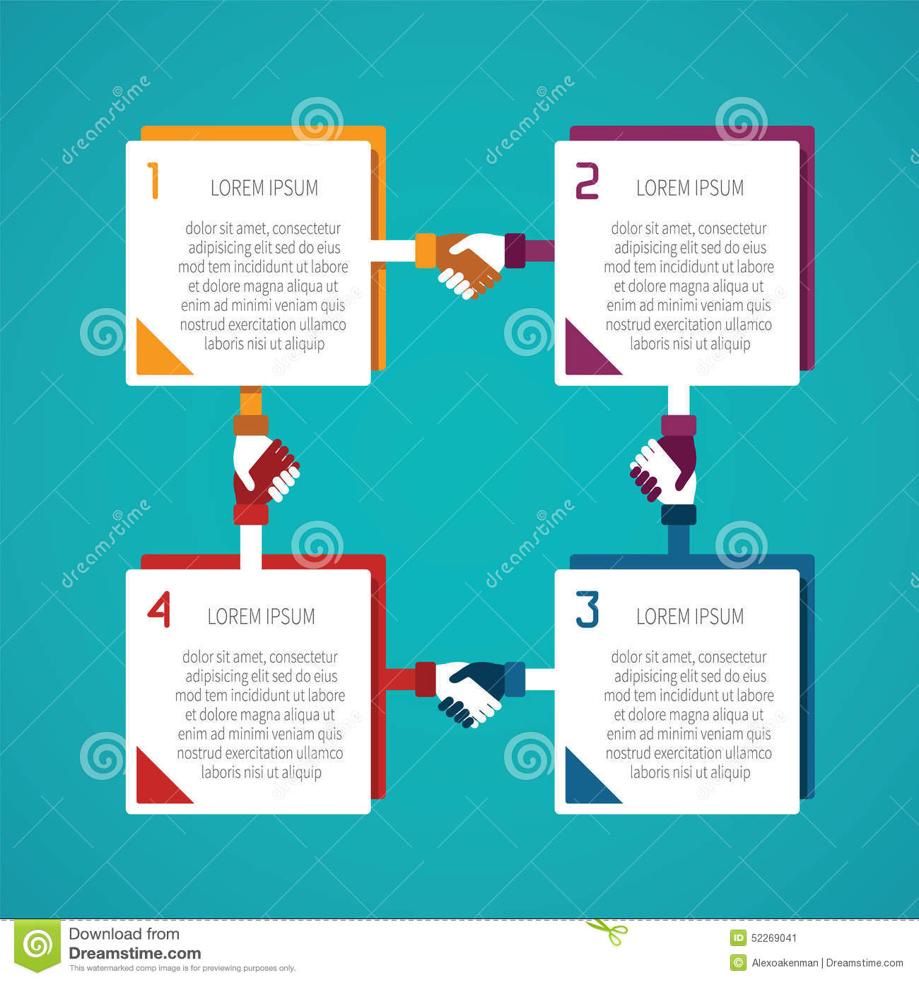 Stock Illustration Abstract Vector Steps Infographic Template Flat Style Layout Workflow Scheme Numbered Options Chart Diagram Image52269041