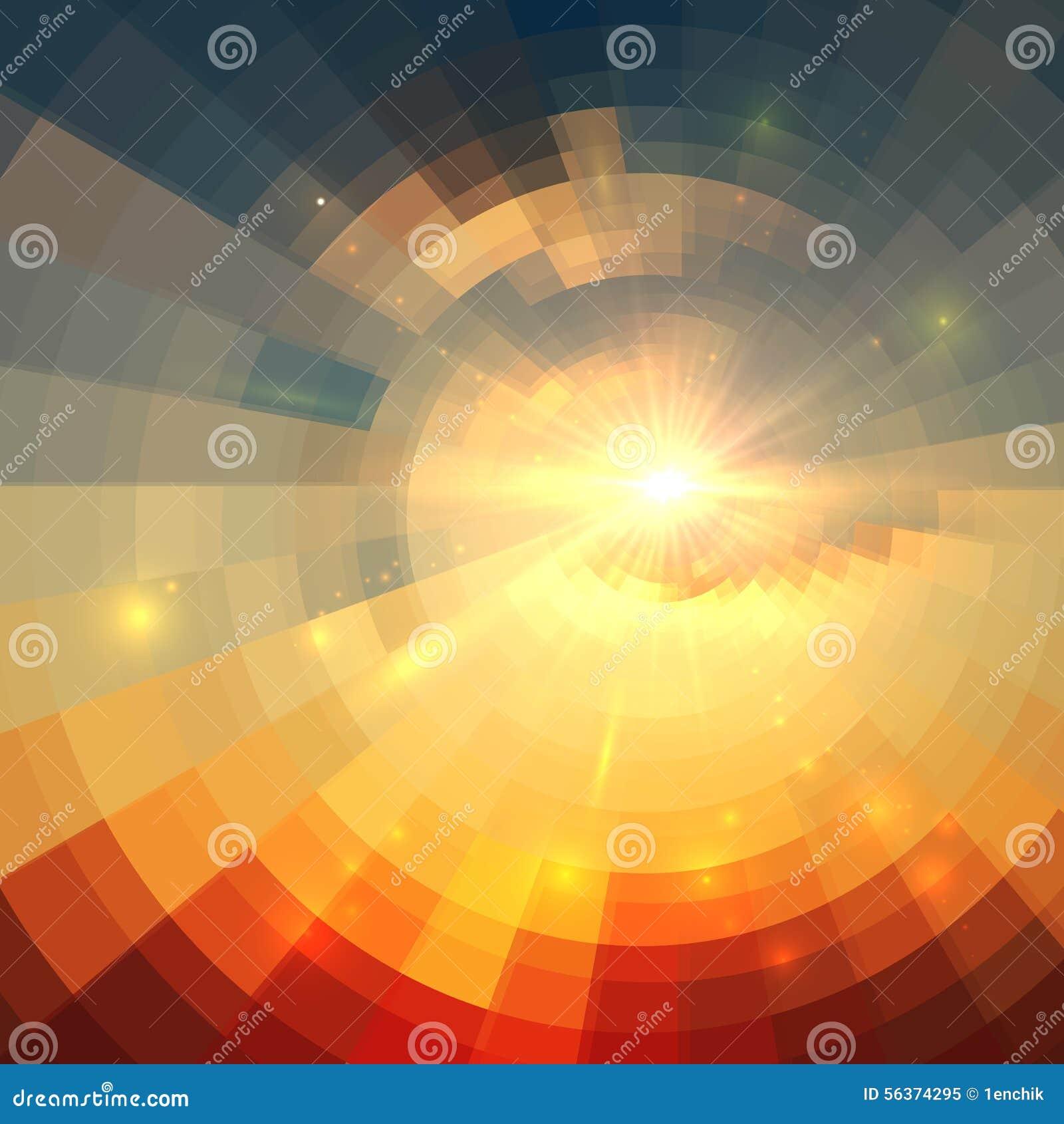 Abstract vector sunrise circle technology