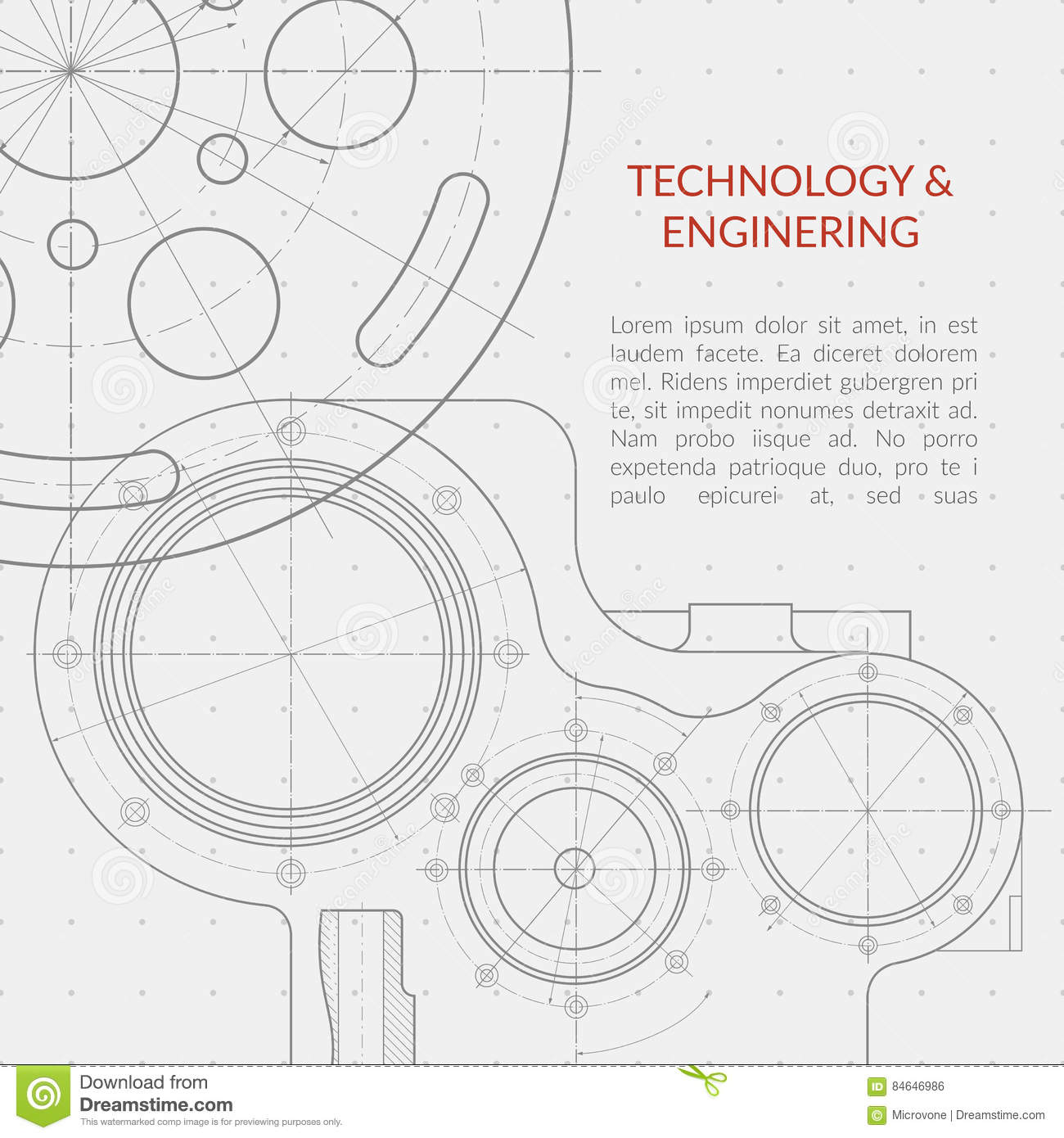 abstract vector technology and engineering background with