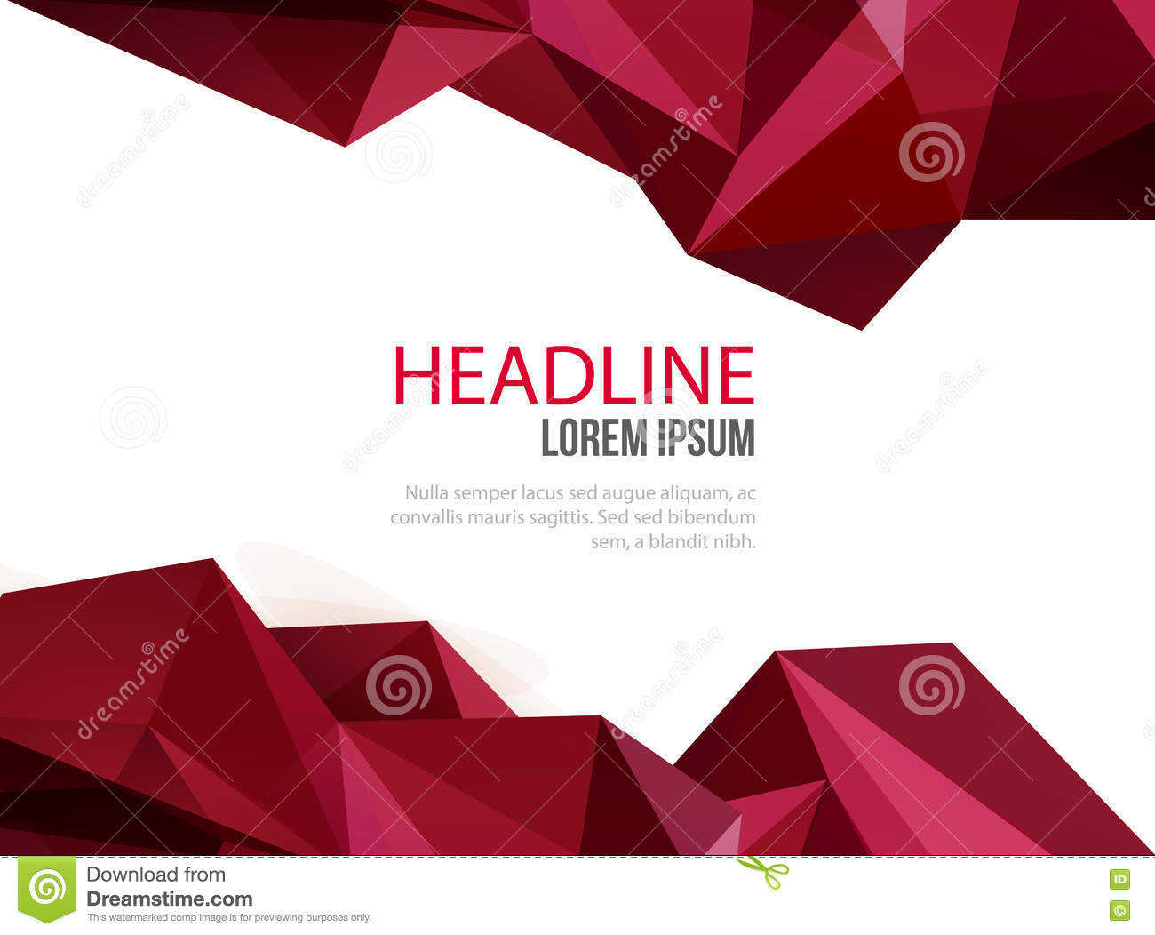 Abstract Vector Template Design With Colorful Geometric Backgrounds ...