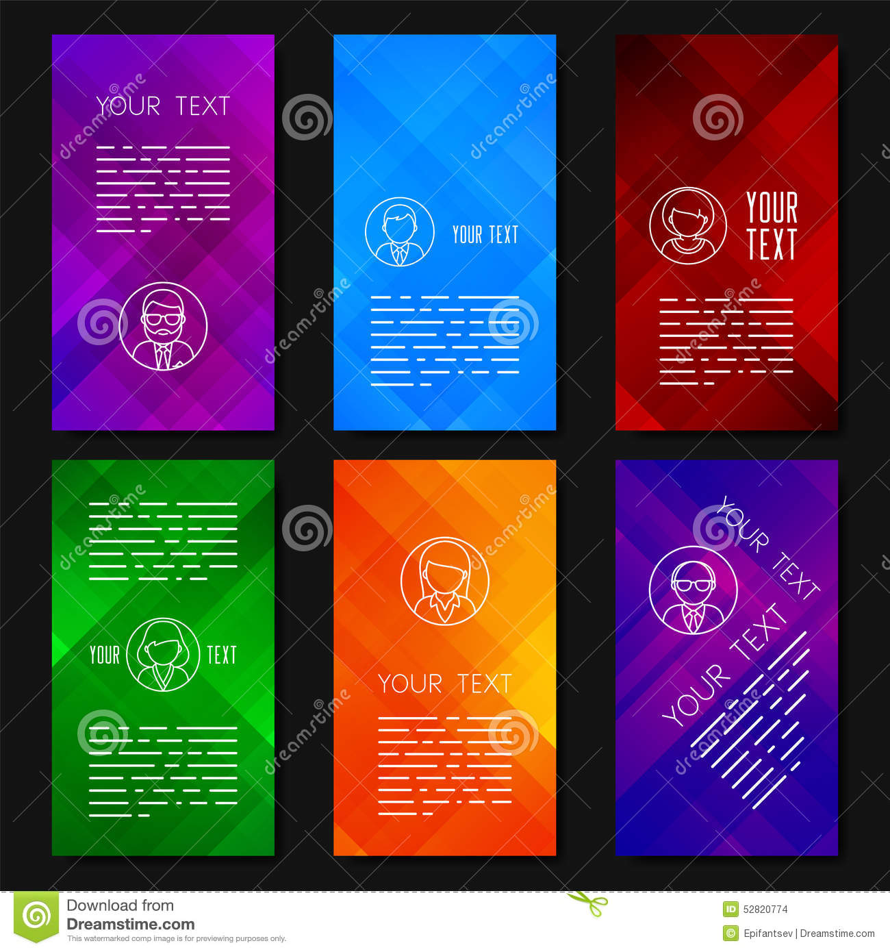 Abstract Vector Template Design With Colorful Geometric