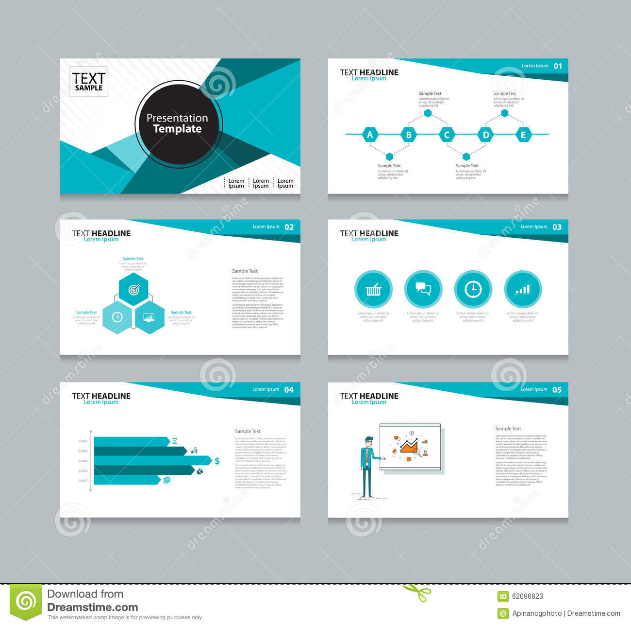 abstract vector template presentation slides background design stock