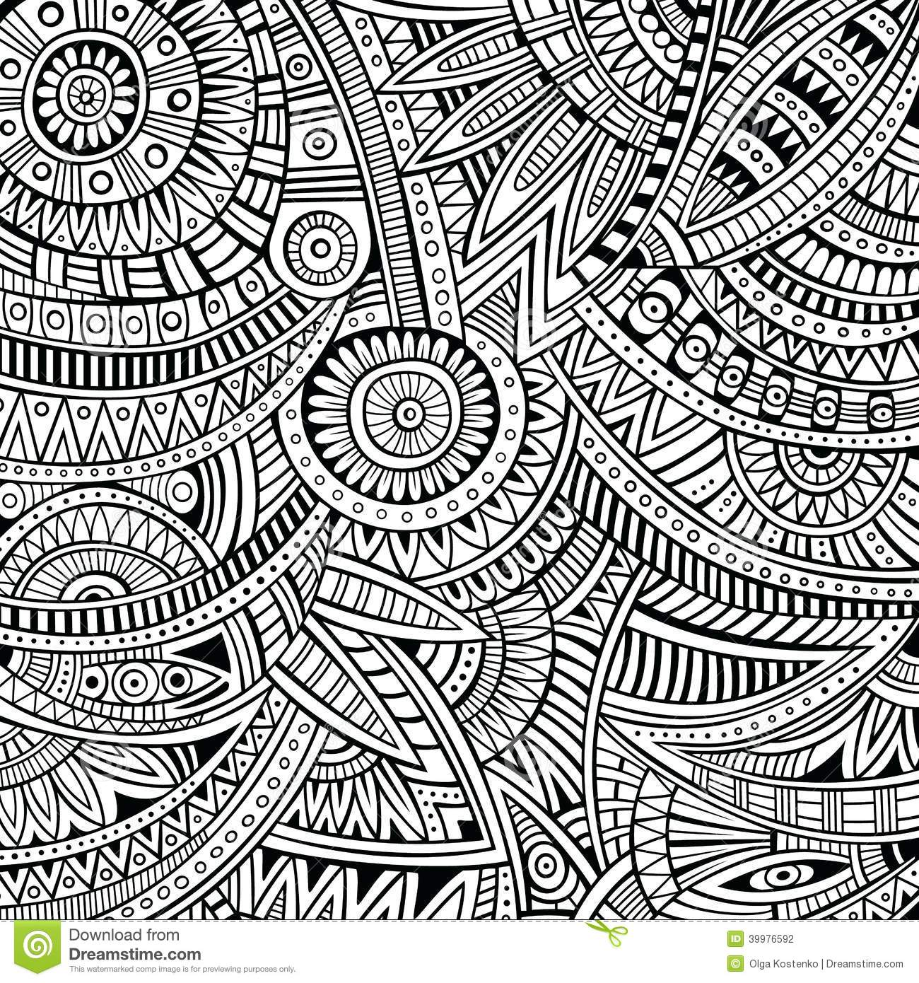 Abstract Vector Tribal Ethnic Background Pattern Stock