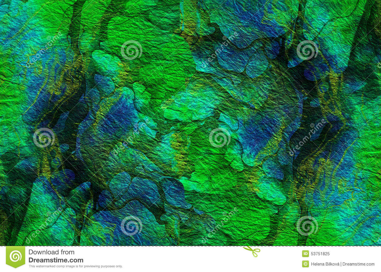Abstract vibrant green blue texture, Background