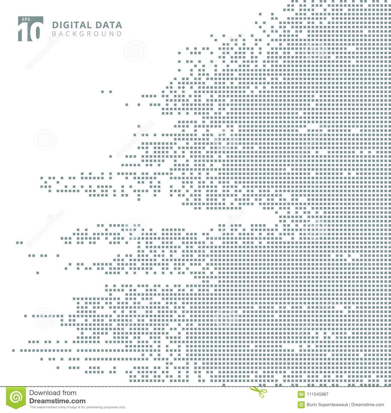 Abstract vierkant grijs het patroonpixel van technologie digitale gegevens backg