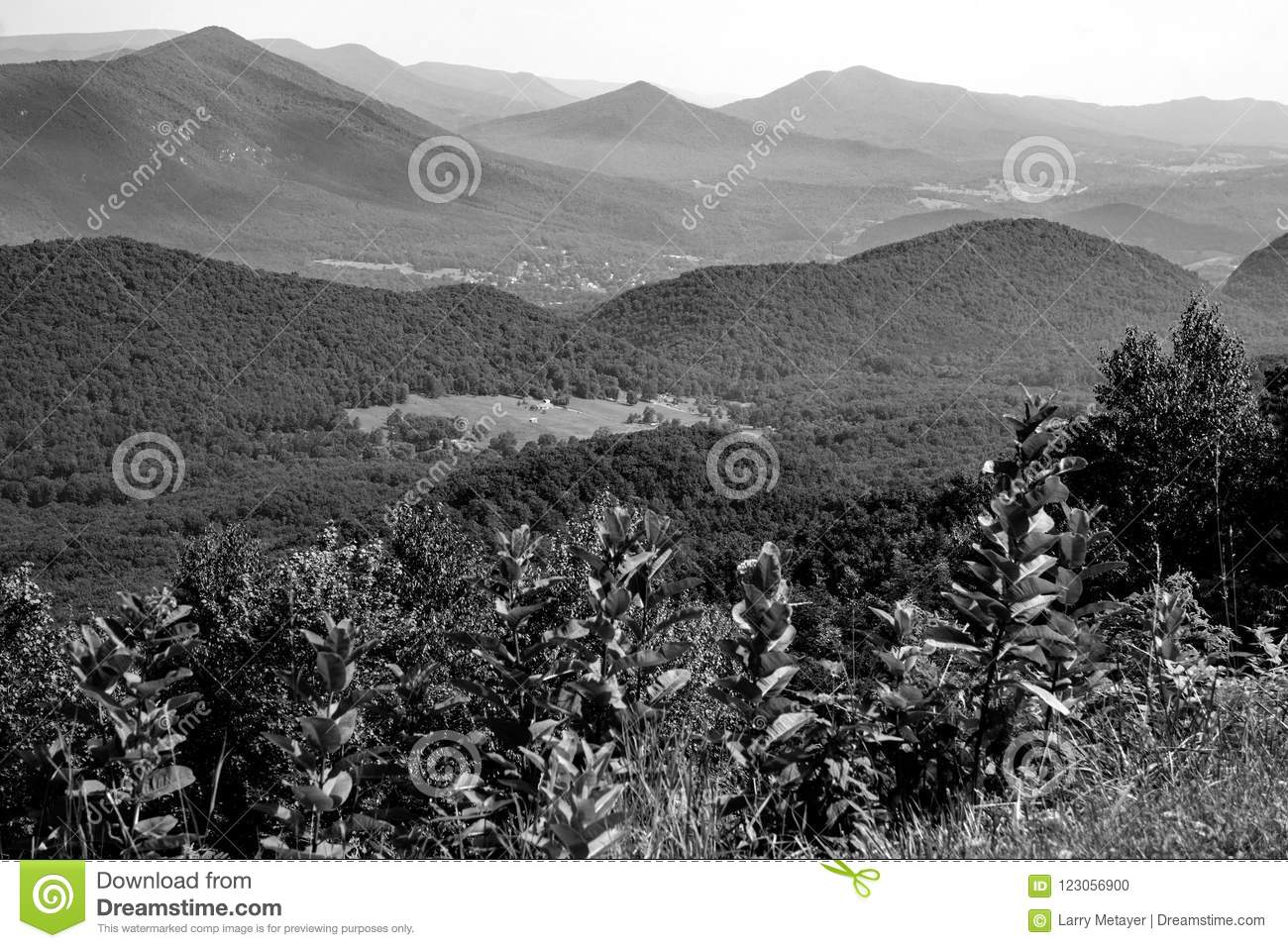 Abstract View of the Blue Ridge Mountains and Goose Creek Valley