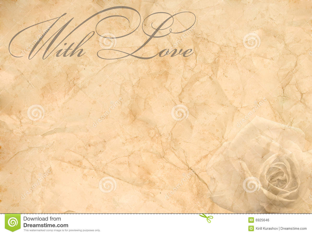 Old Fashion Love Letter Paper