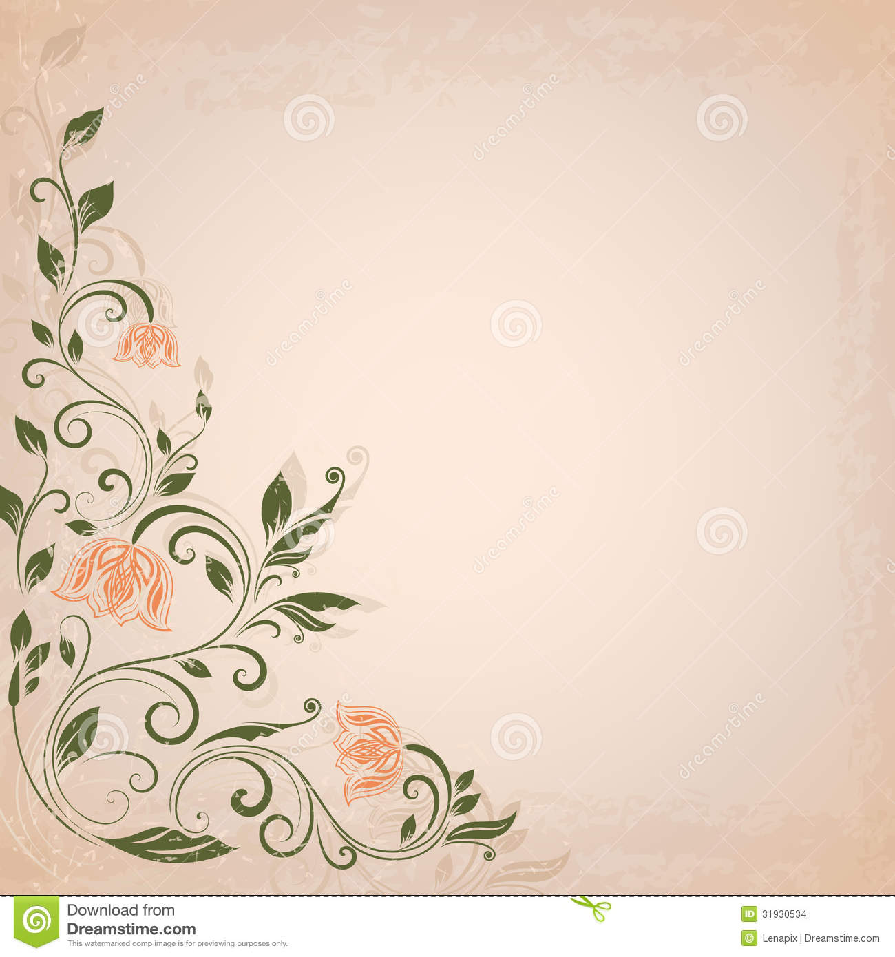 Abstract vintage background stock images image 31930534 - Abstract Background Flower Vintage