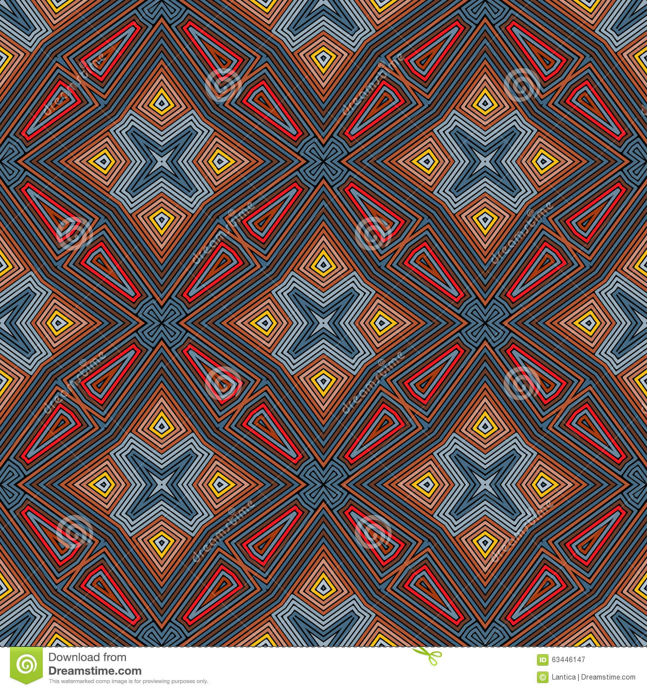 Abstract Vintage Geometric Wallpaper Pattern Stock Vector