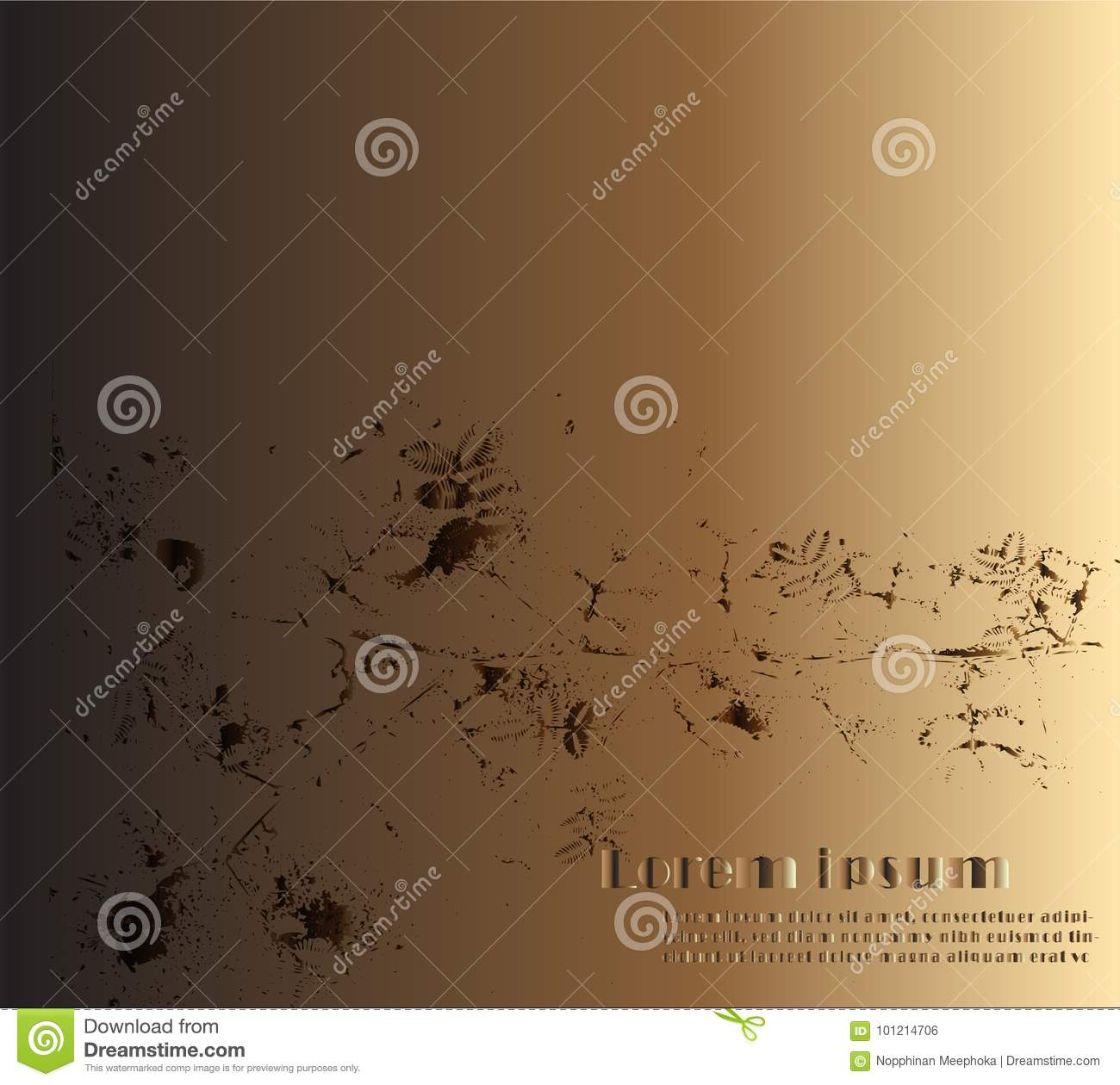 Abstract Vintage Surface Concept Design On Dark And Brown Background