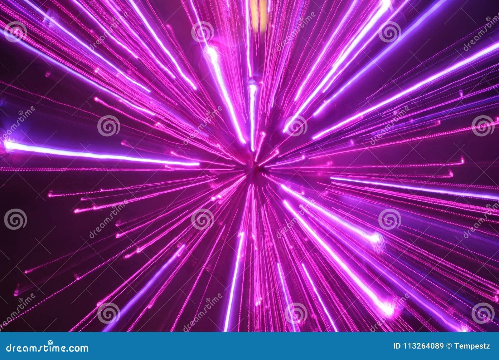 Abstract violet light streak blurs