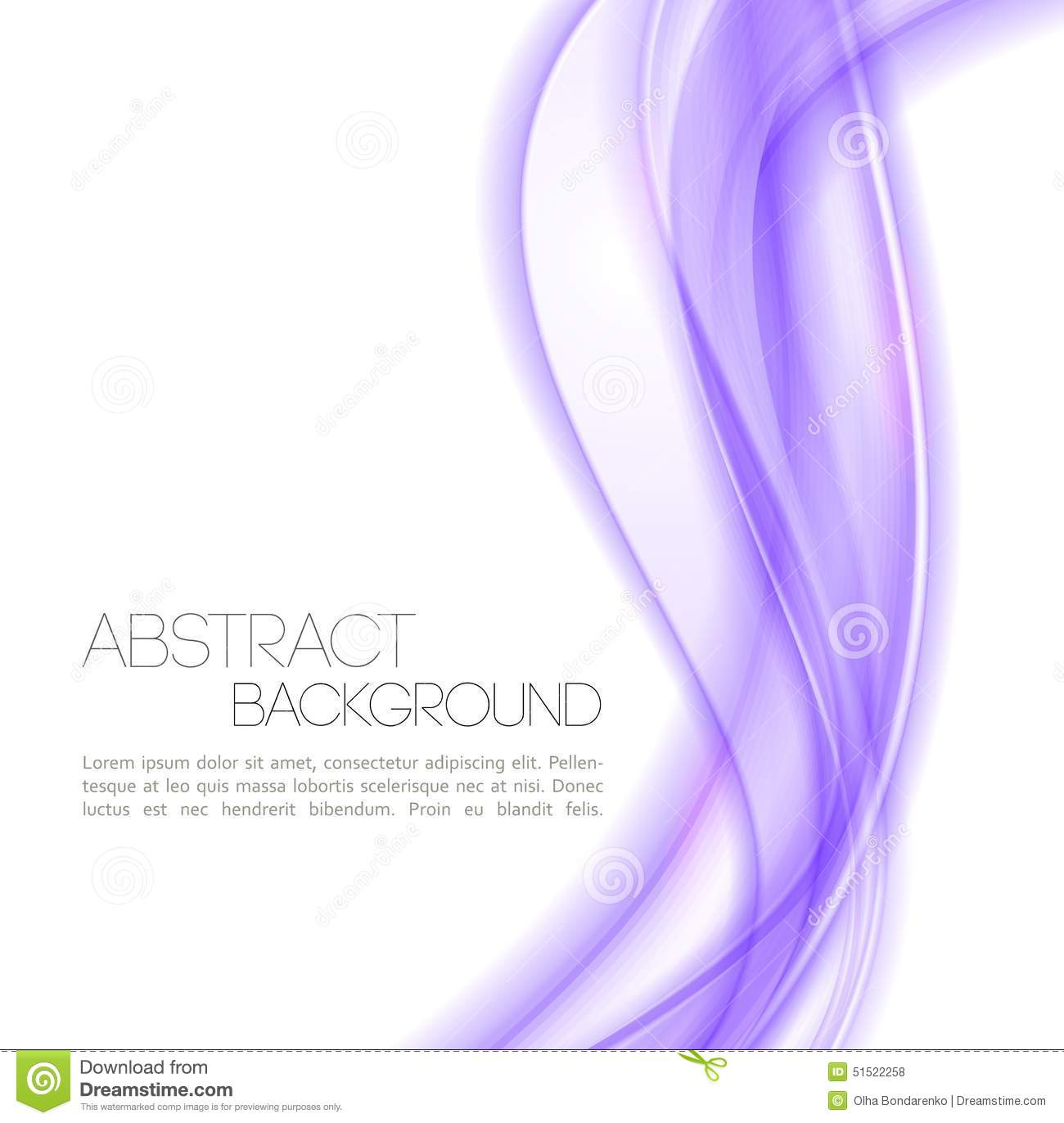 Abstract Violet Waves Background. Template Stock Vector ...
