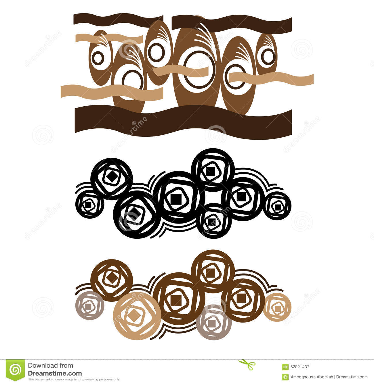 Wall Art Stickers Vector : Abstract wall art sticker stock vector image of shape