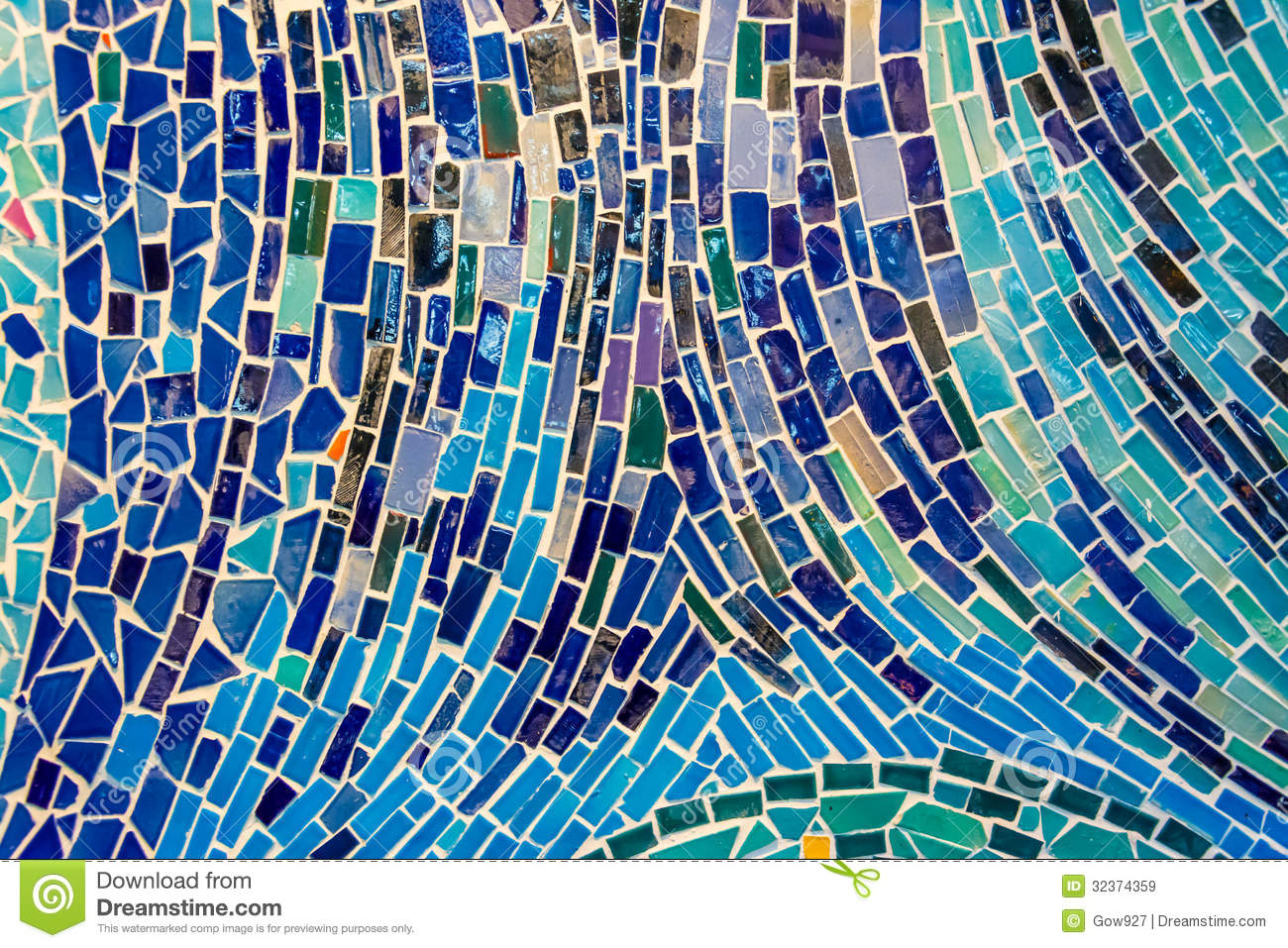 Abstract Wall Decorated Of Colorful Tile Texture. Stock Image ...
