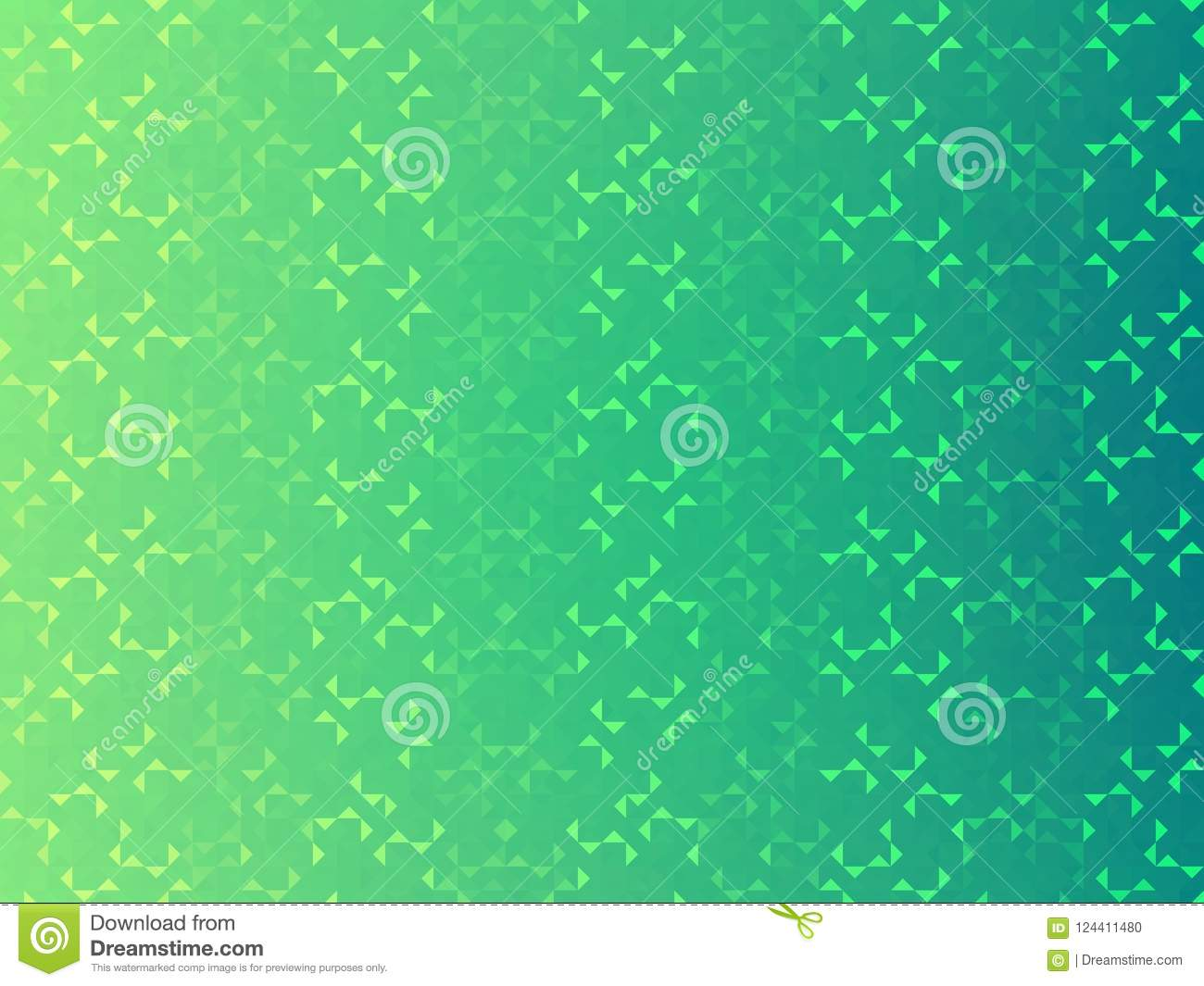 Abstract wallpaper, blue, green ombre background, triangles