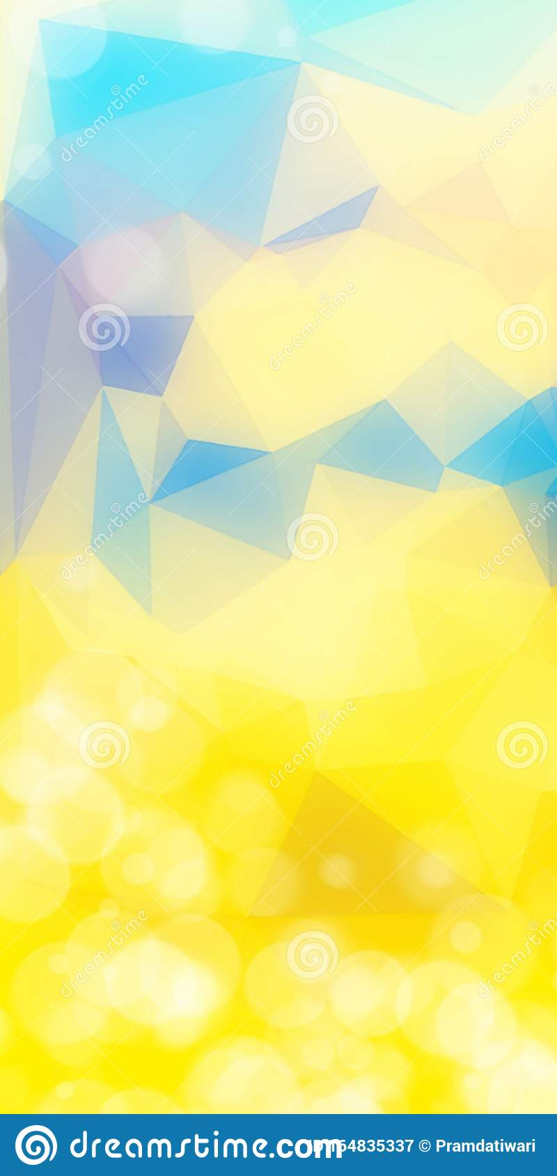 Abstract Wallpaper For Android Themes Yellow Trinqgle Blue