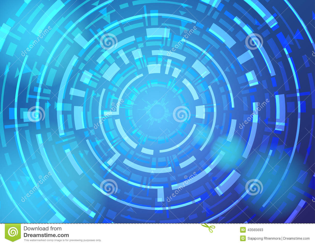 Technology Background With Circular Mesh: Abstract Wallpaper With A Circular Modern Shape. Stock