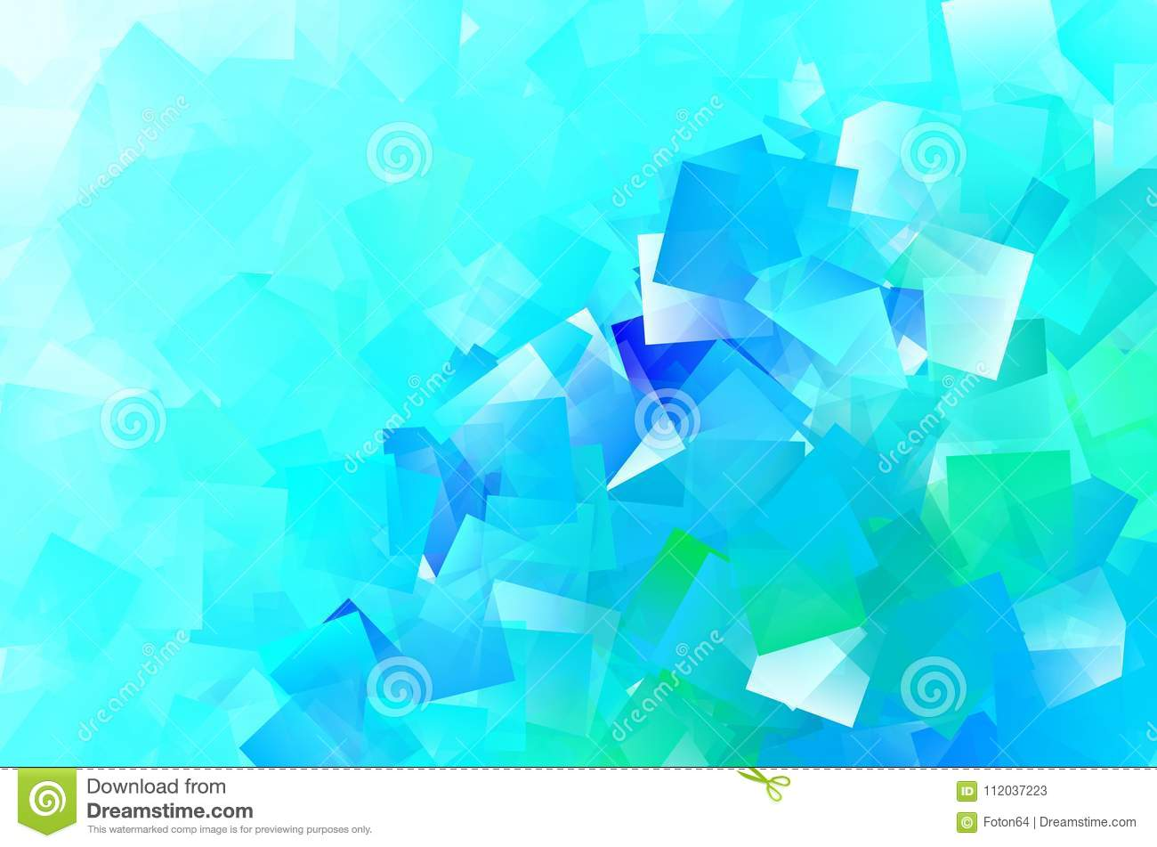 Blue Cyan Abstract Squares Wallpaper Stock Illustration