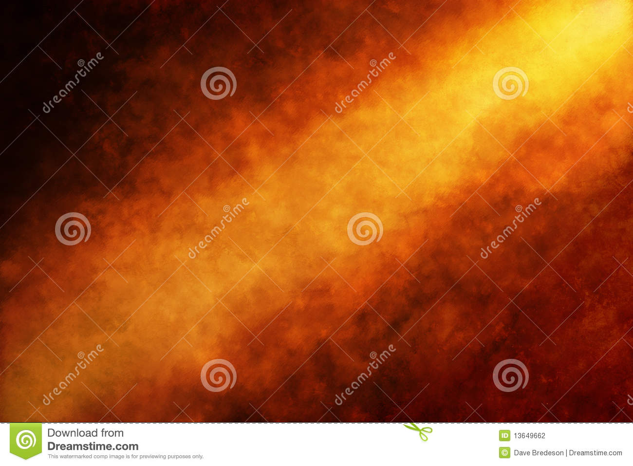 Abstract Orange Gold Painted Background Christmas