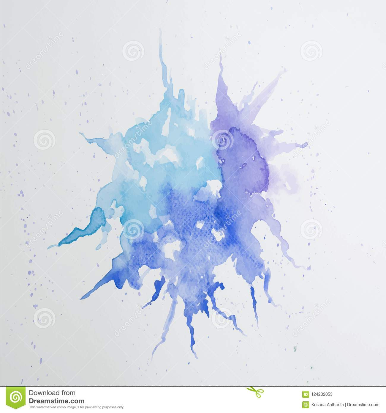 Abstract water colorful painting. Pastel color vector illustration concept.