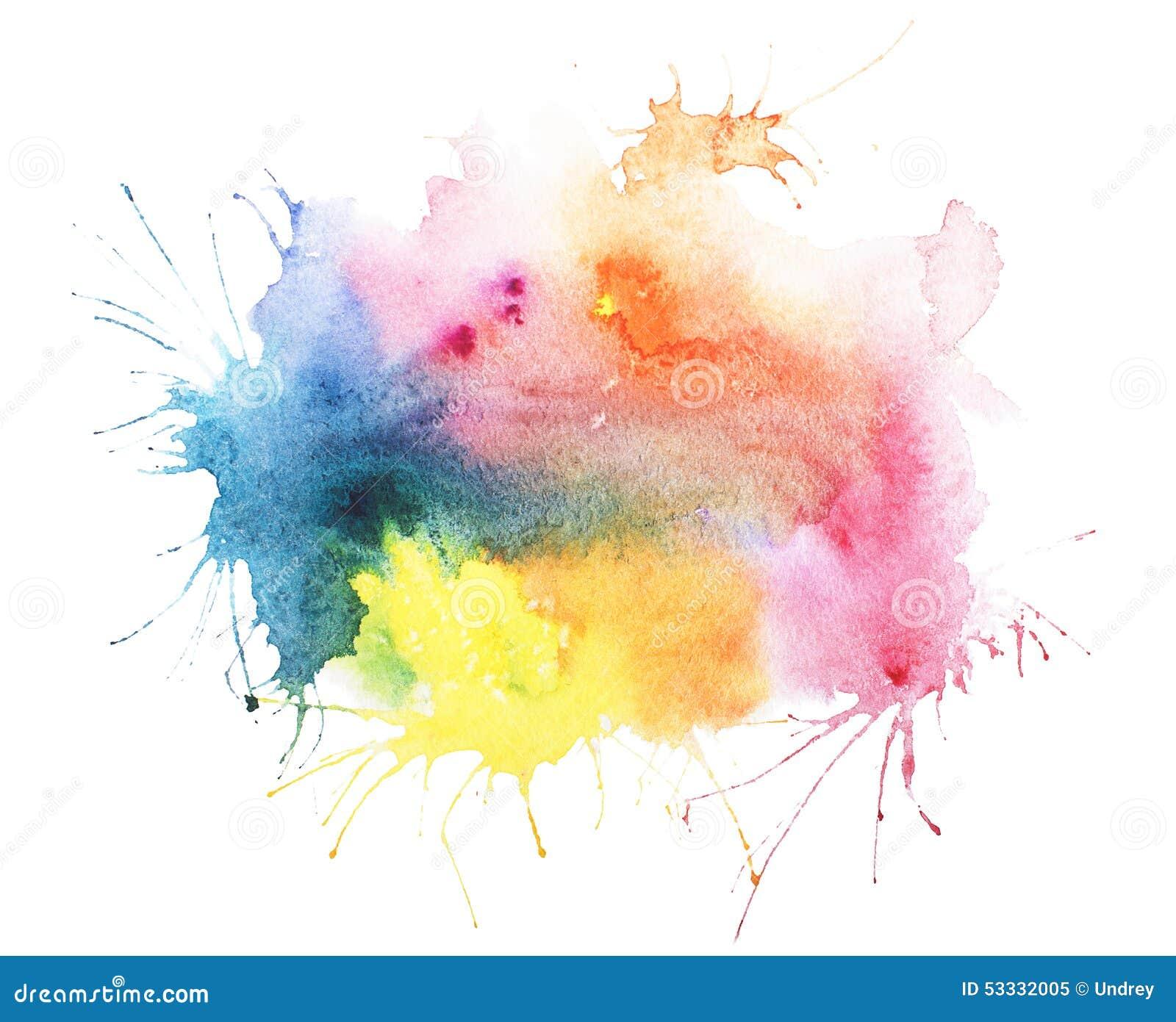Abstract watercolor aquarelle hand drawn blot