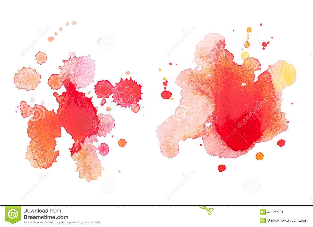 Abstract Watercolor Aquarelle Hand Drawn Red Drop Stock Photo - Image ...