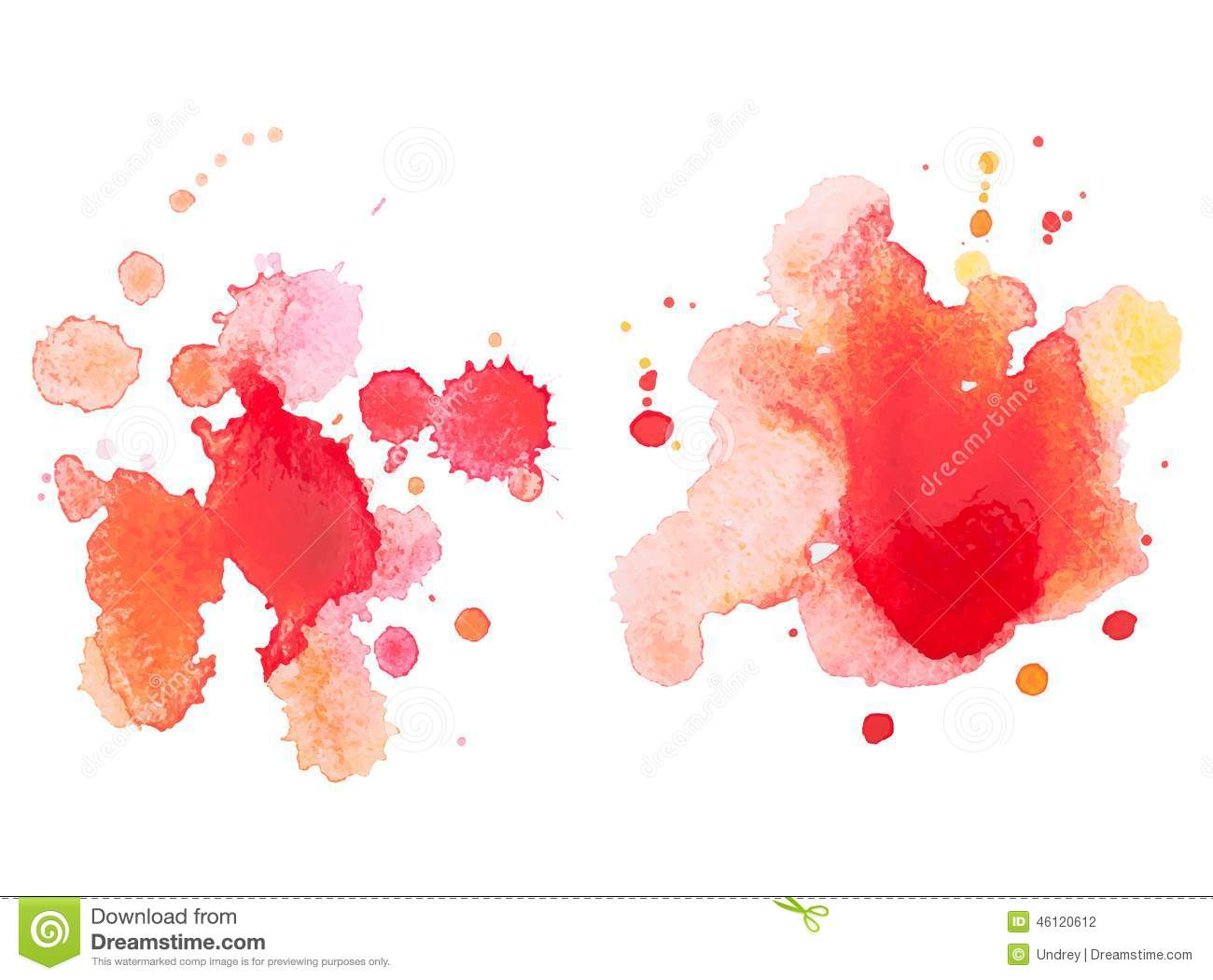 red colorful abstract hand draw watercolour aquarelle art blue ink splatter vector blue ink splatter vector