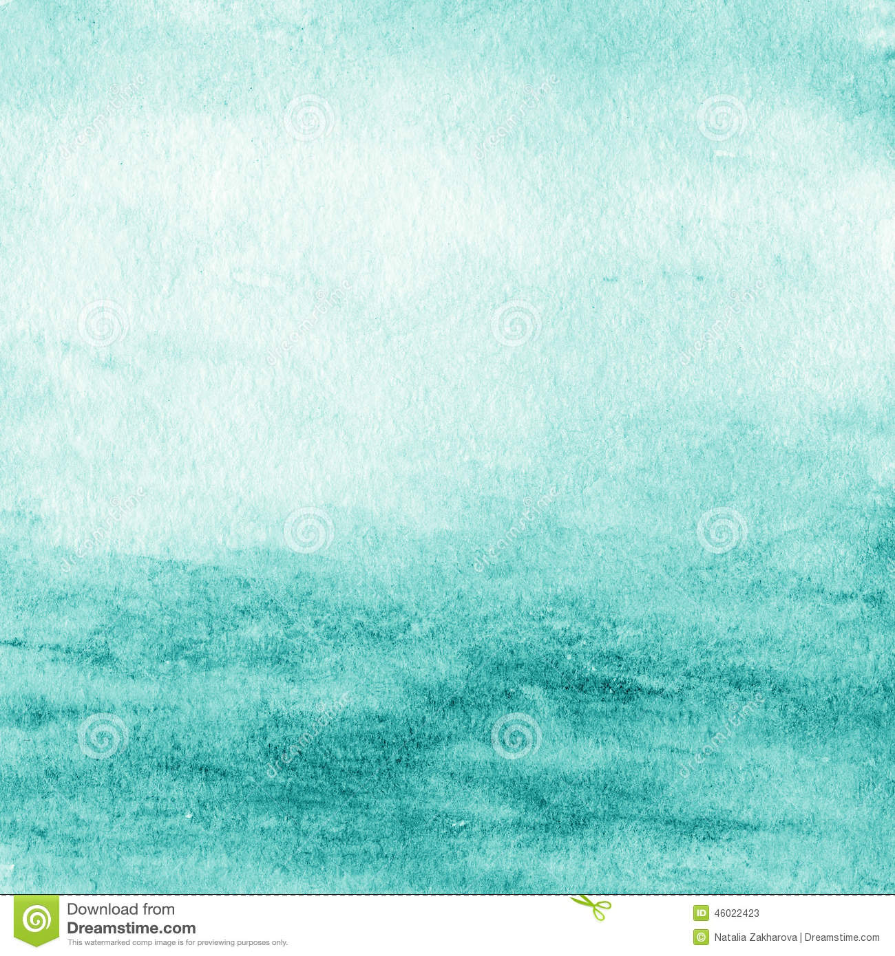 Abstract watercolor background. Blue Green Water color like sea