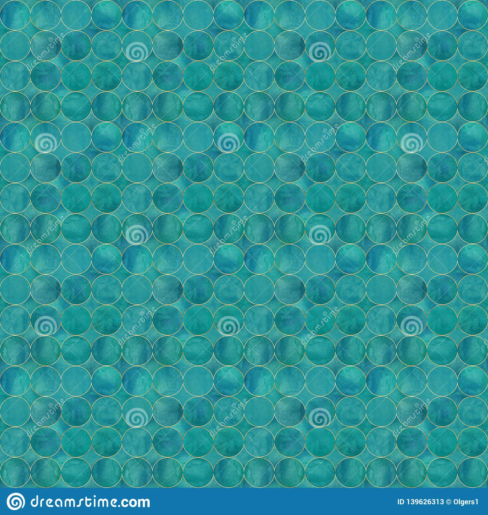 Abstract Watercolor Background With Dark Turquoise Color