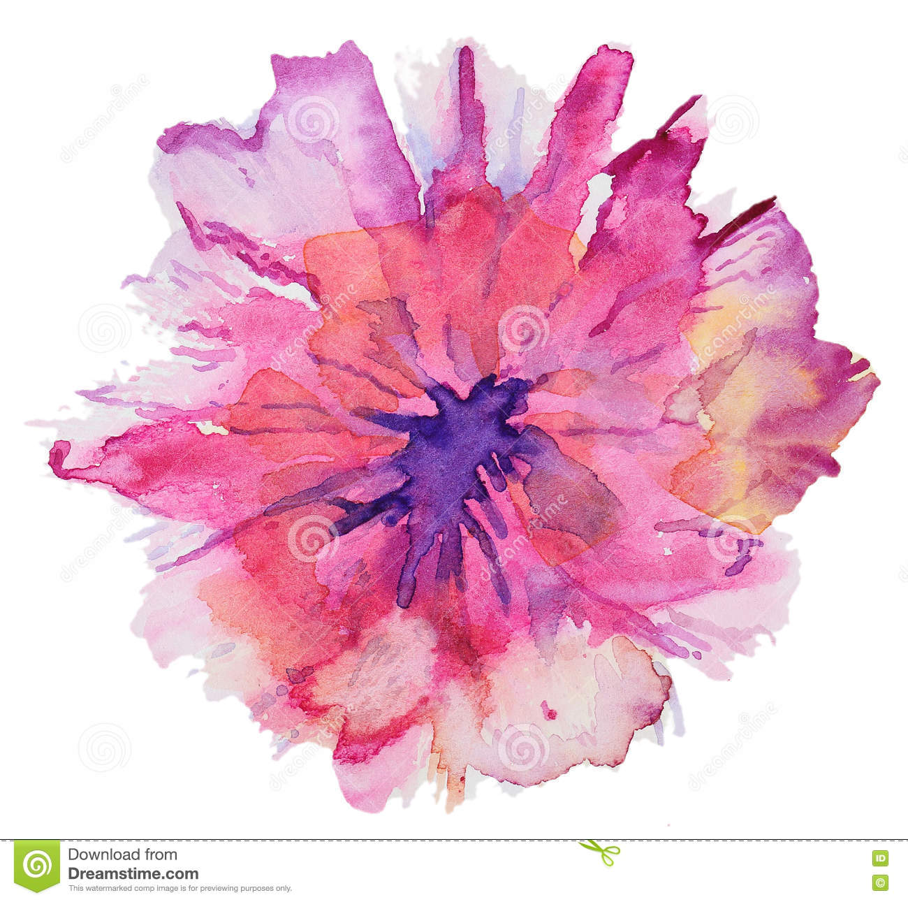 Abstract Watercolor Flowers Stock Illustration Illustration Of