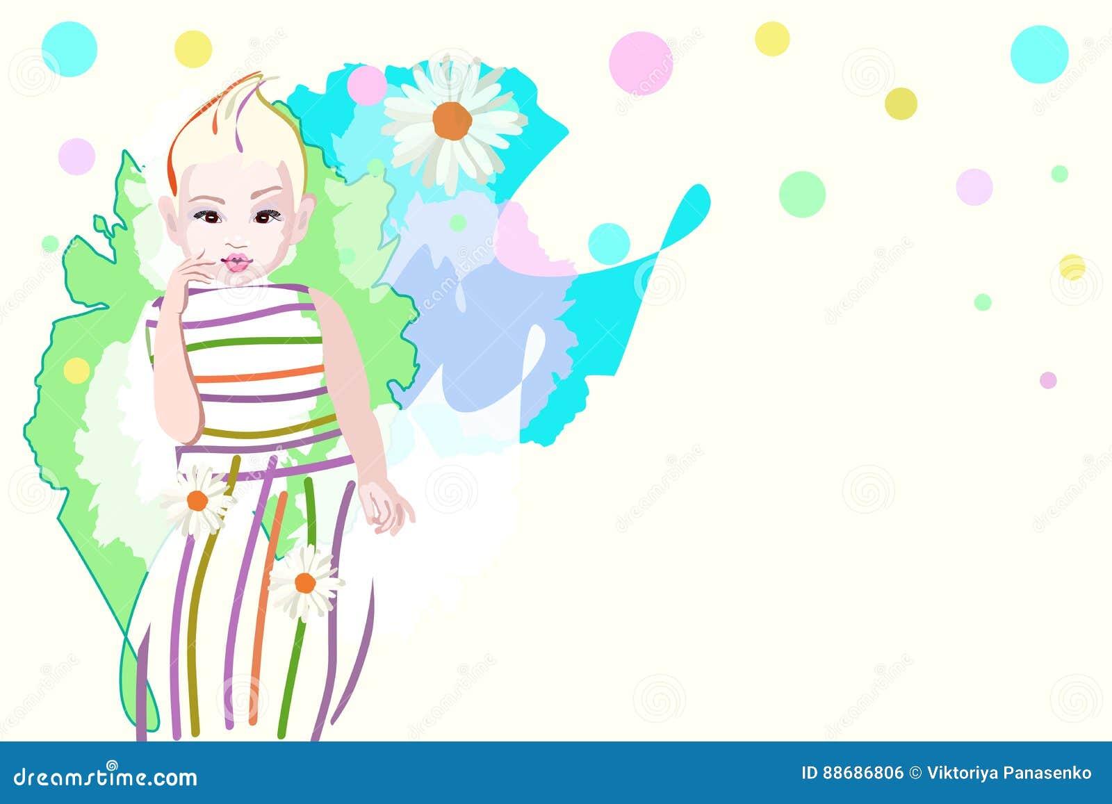 7266b06f4 Abstract Watercolor Illustration Stylish Baby