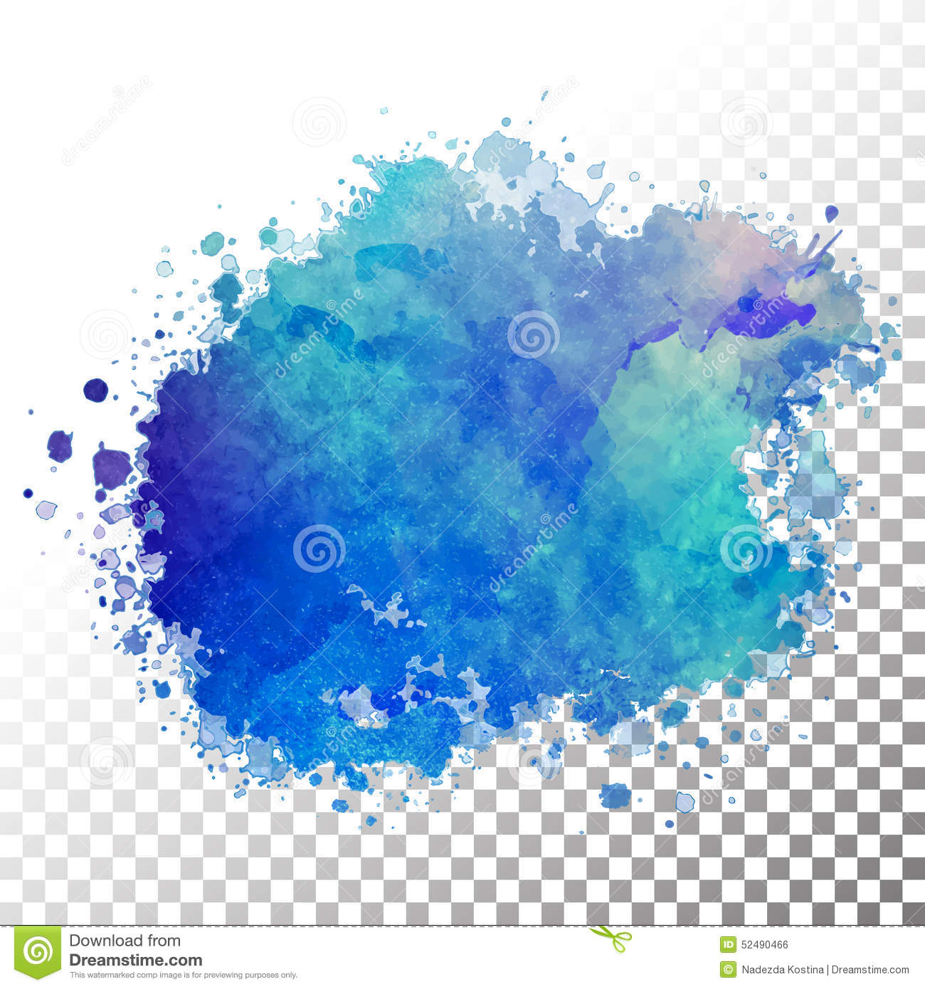 Abstract Watercolor Painted Blot Stock Vector