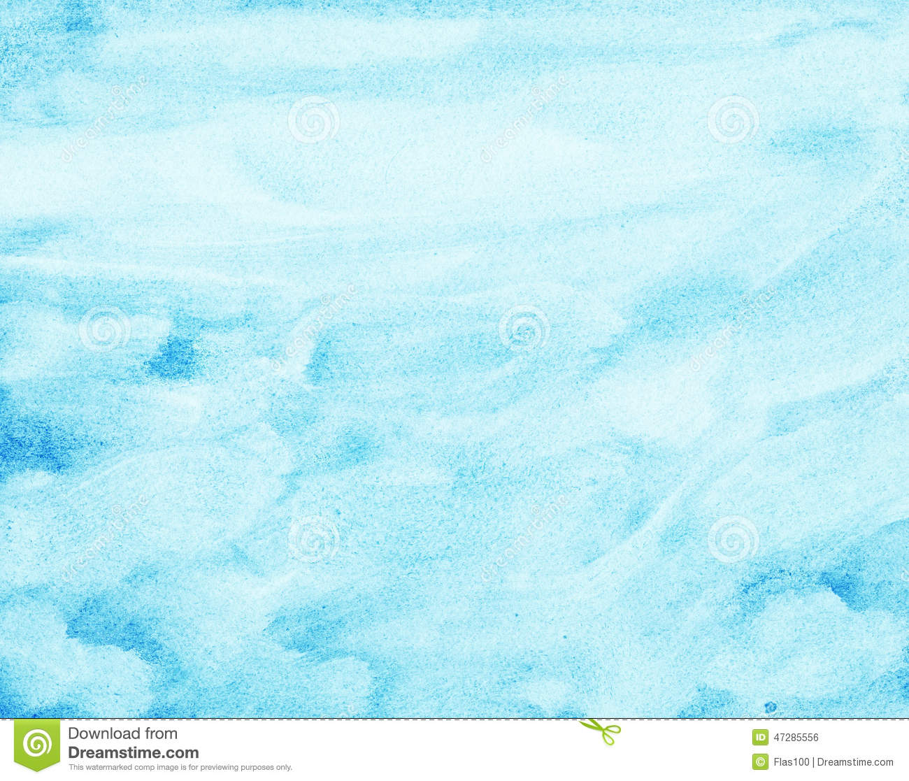 Abstract Watercolor Sky, Clouds Stock Illustration - Image ...