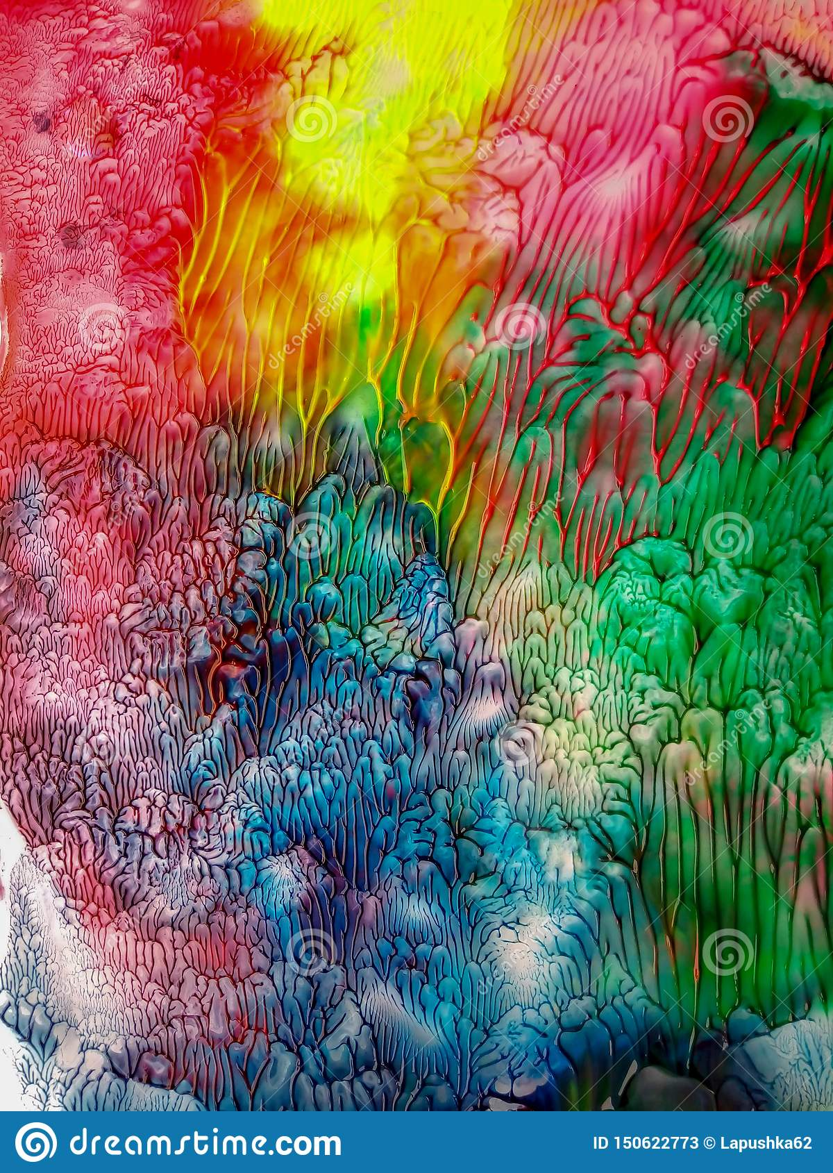 Abstract watercolor stains Watercolor vivid colors splash background