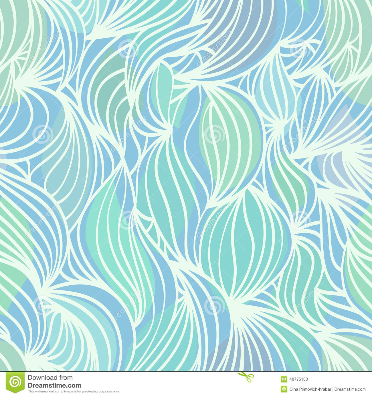 abstract wave blue and green seamless pattern stock vector