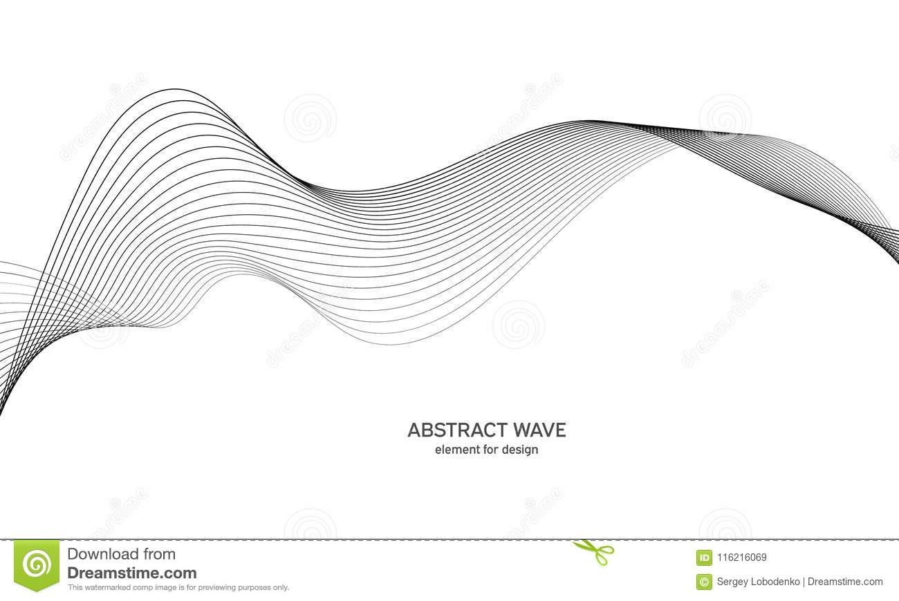 Line The Art Element : Abstract wave element for design. digital frequency track equalizer
