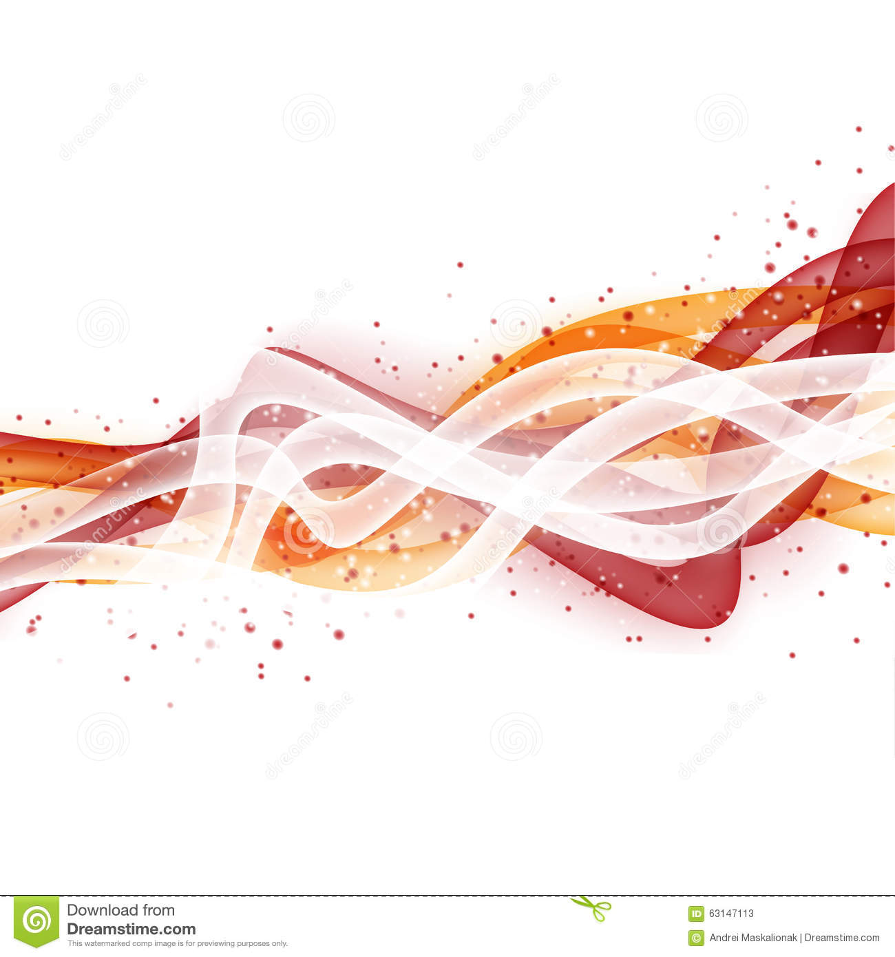 Abstract Modern Orange And White Background Royalty Free