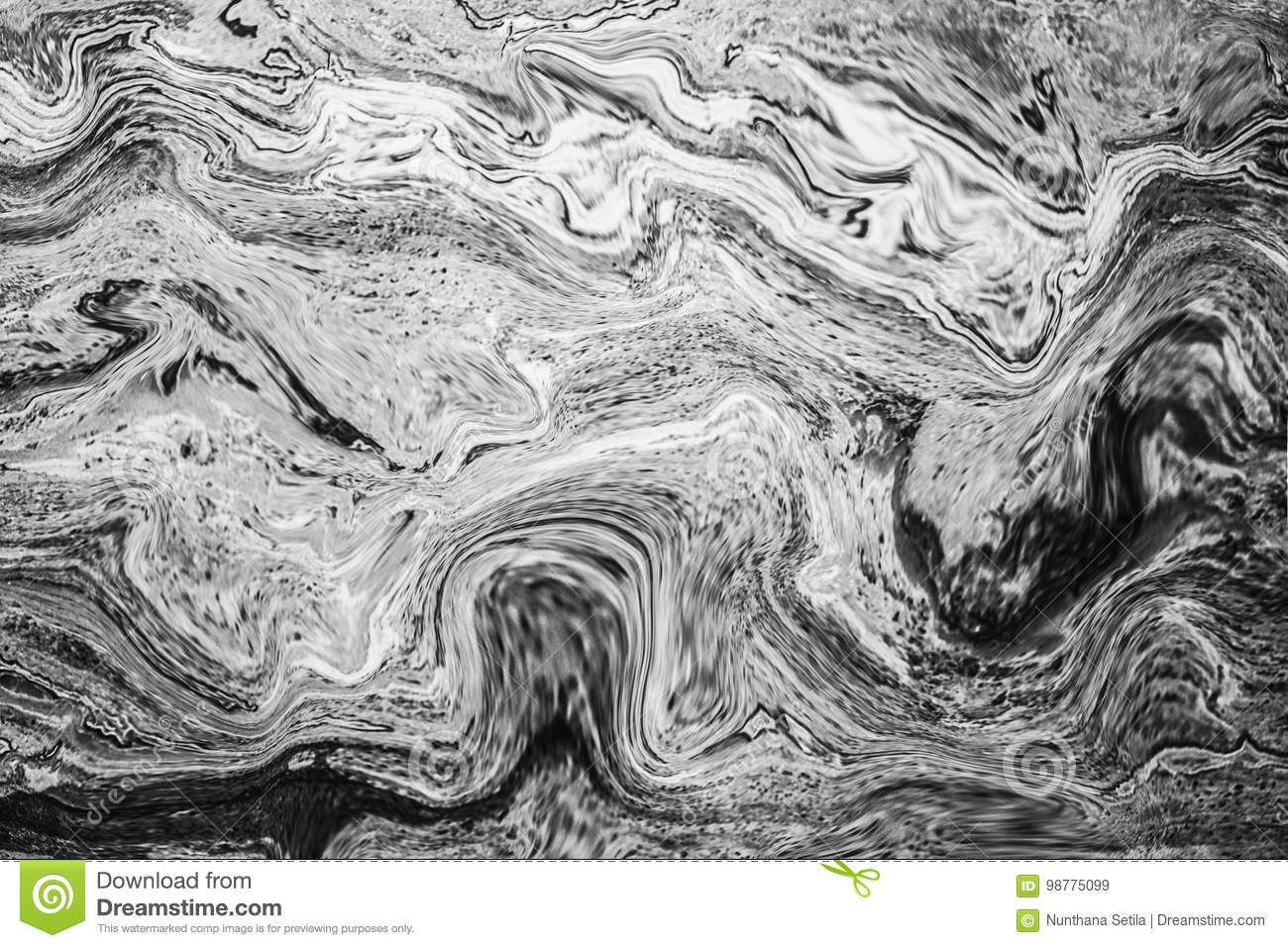 Abstract Wave Pattern Dark Grey Marble Ink Texture Background Stock Image Image Of Grey Material 98775099