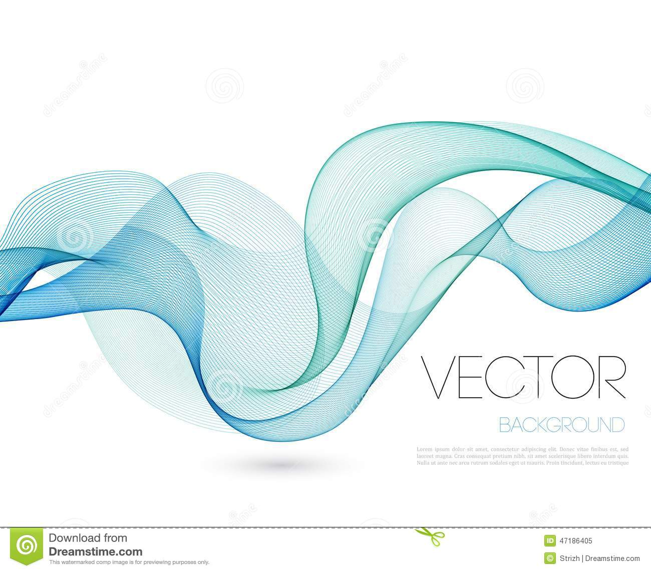 abstract wave template background brochure design stock