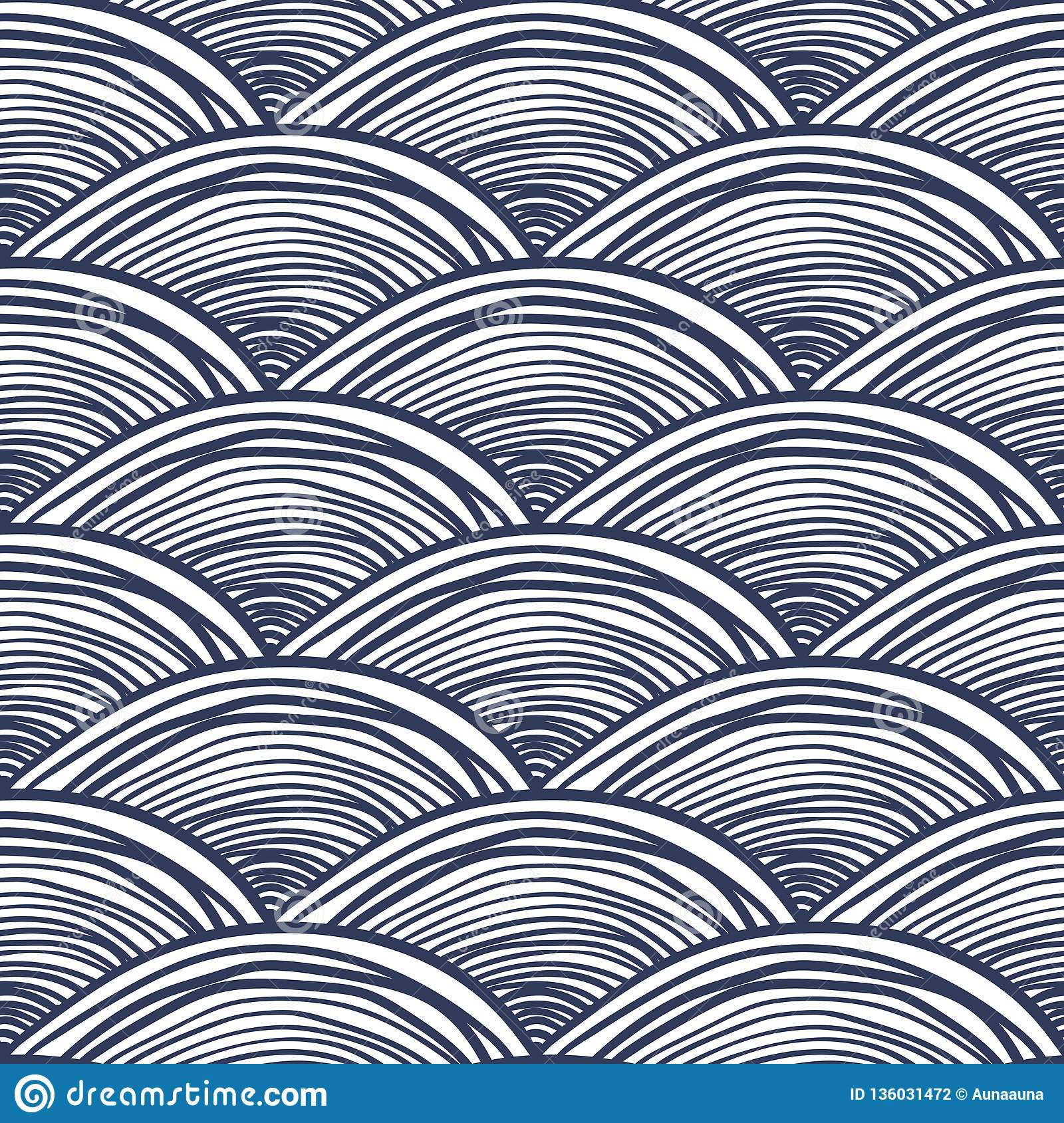 Waves background, abstract seamless pattern.