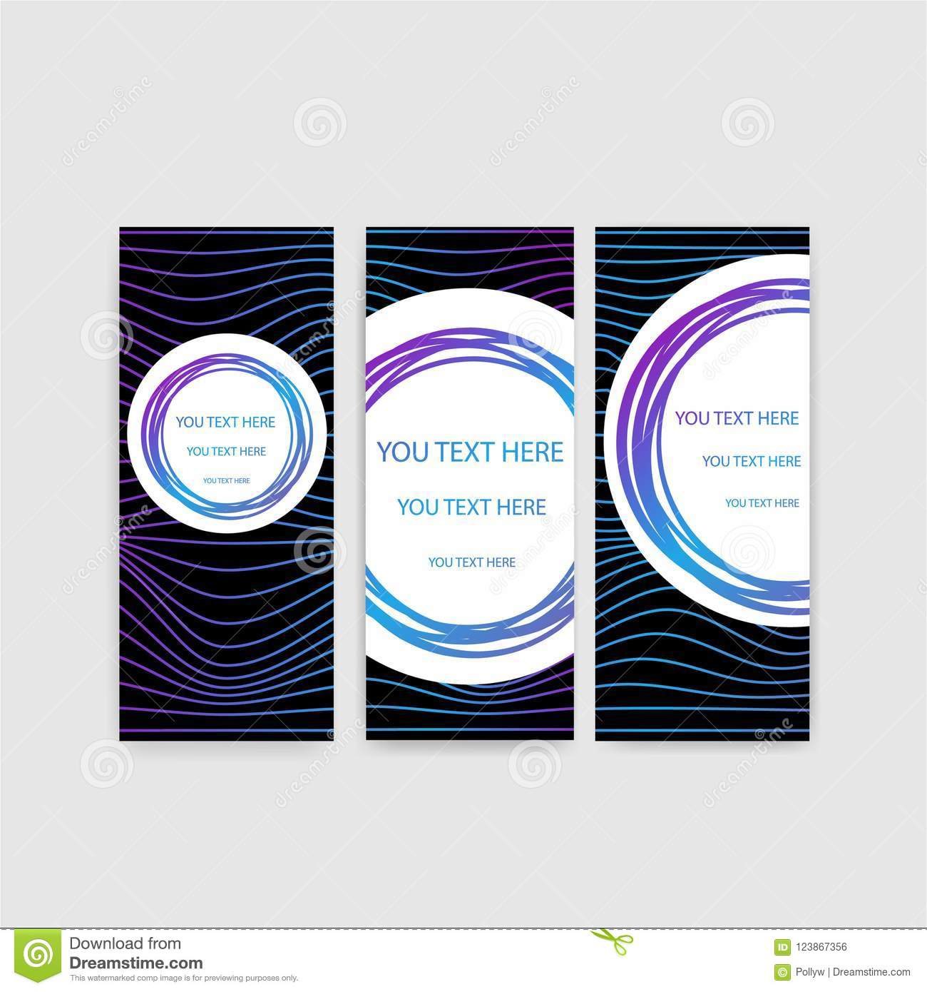 Abstract waves backgrounds flayers set
