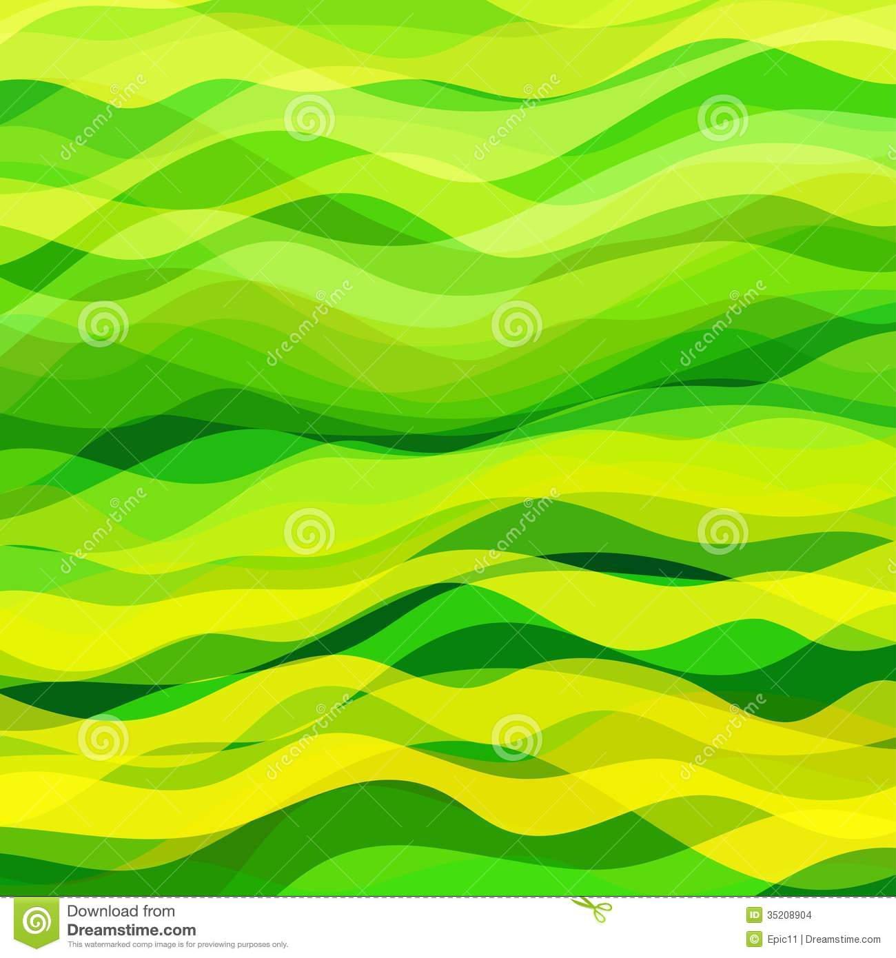 Abstract wavy background stock vector illustration of - Green design ...