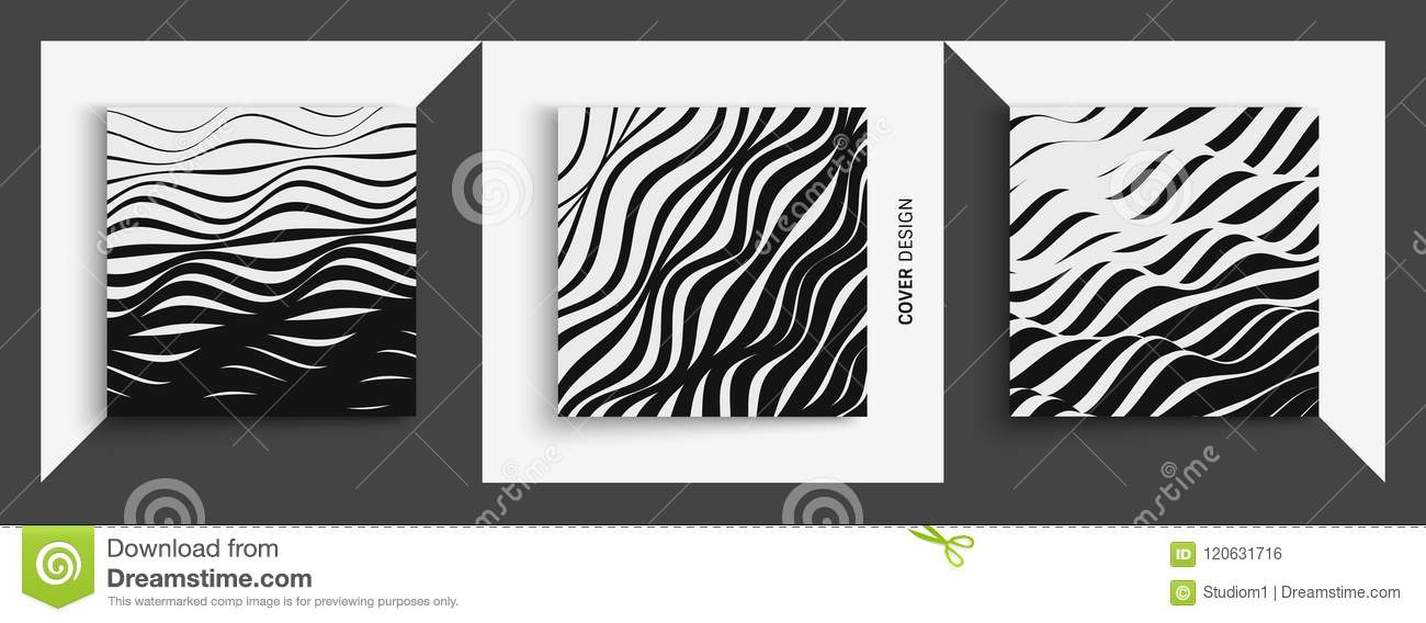 Abstract Wavy Background. Pattern With Optical Illusion. Cover ...