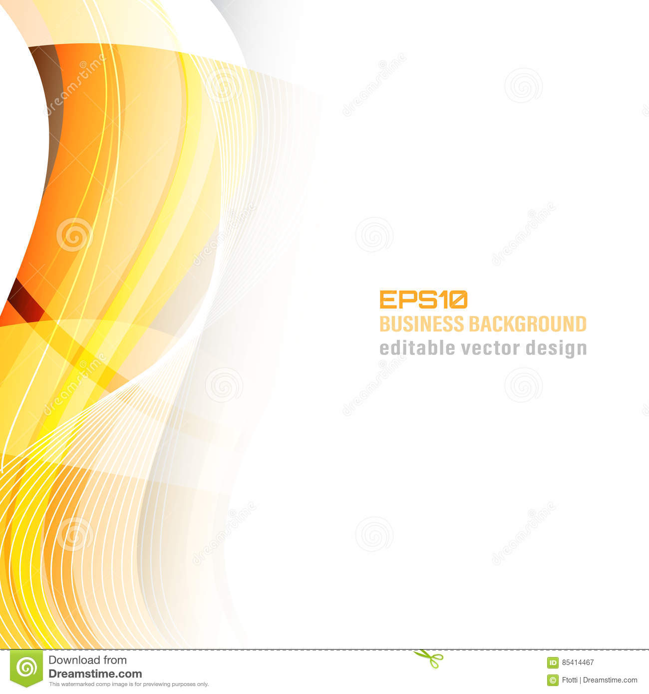 Abstract Wavy Business Background Or Banner. Stock Vector