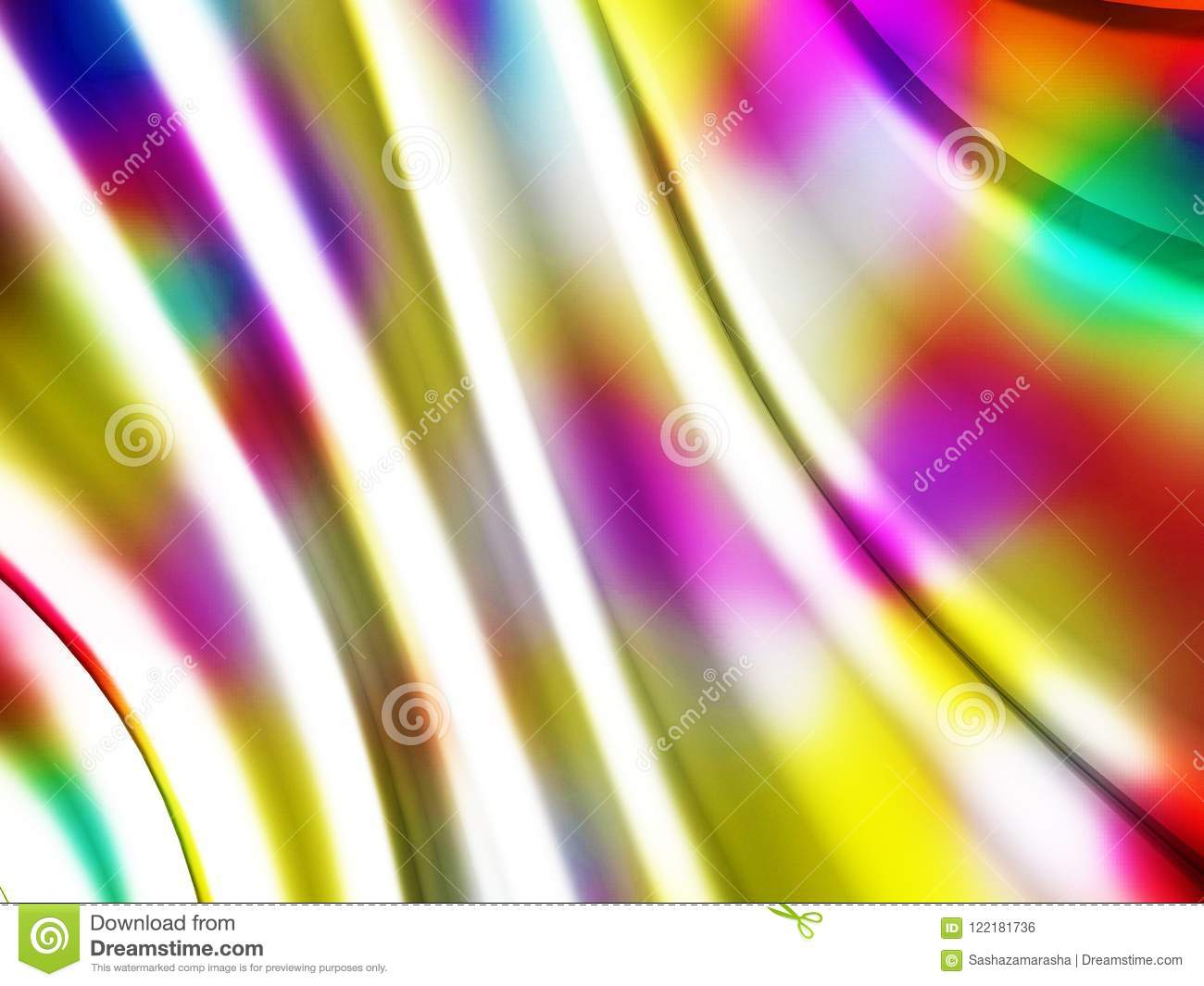 Abstract wavy glossy colorful shiny metallic background
