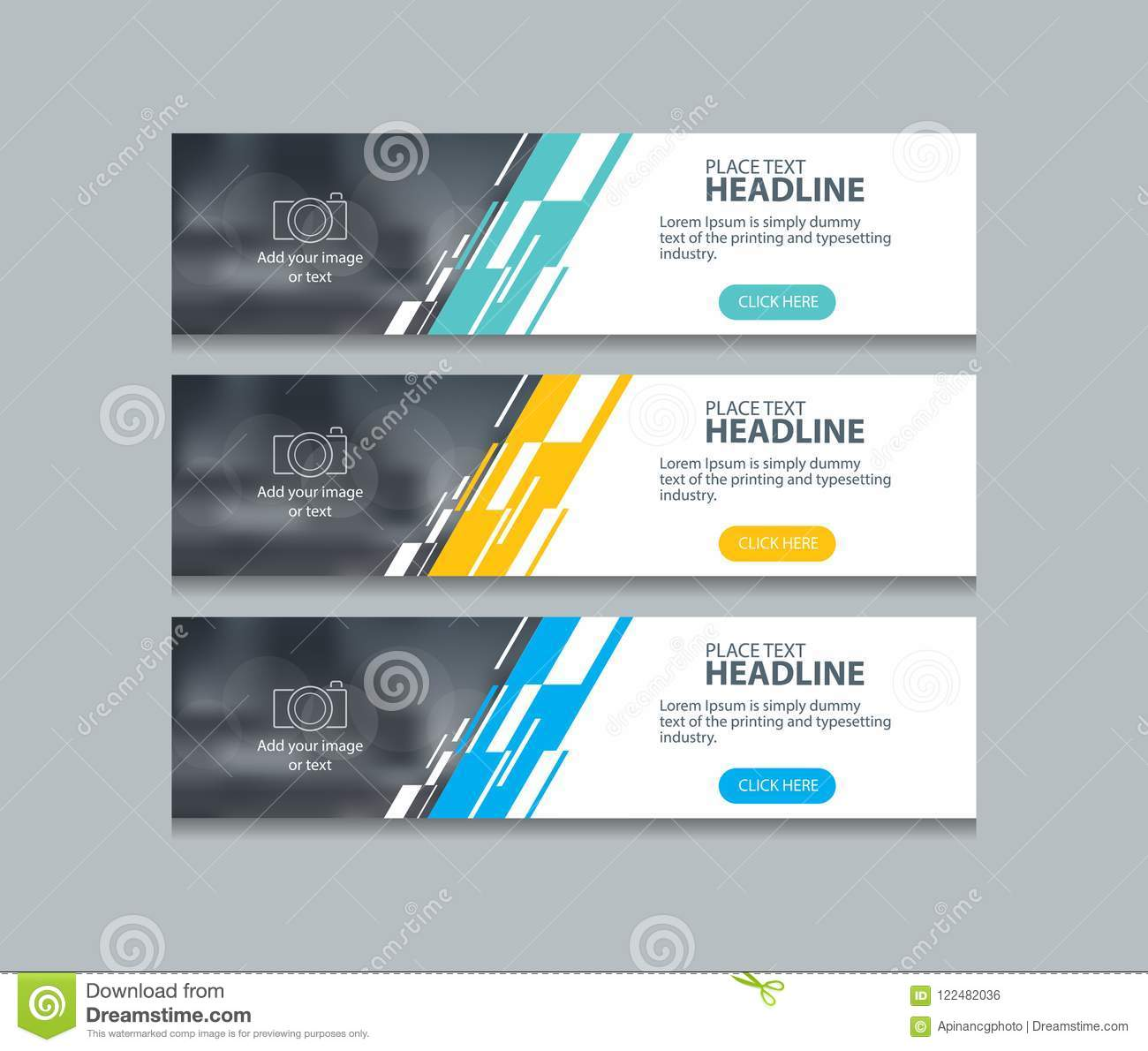 Abstract Web Banner Design Template Backgrounds Stock Vector ...