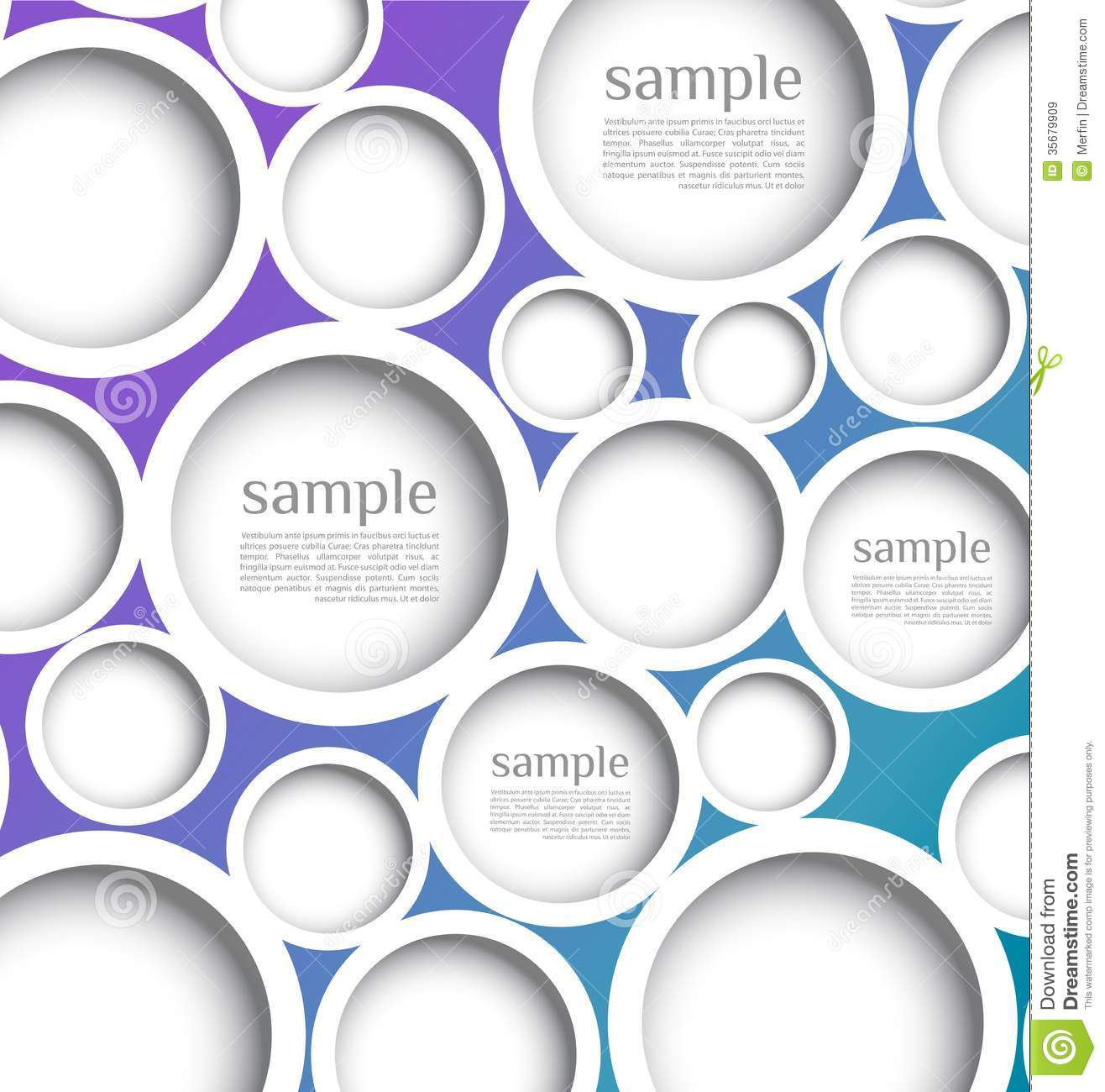Abstract Web Design Bubble With Background. Royalty Free ...