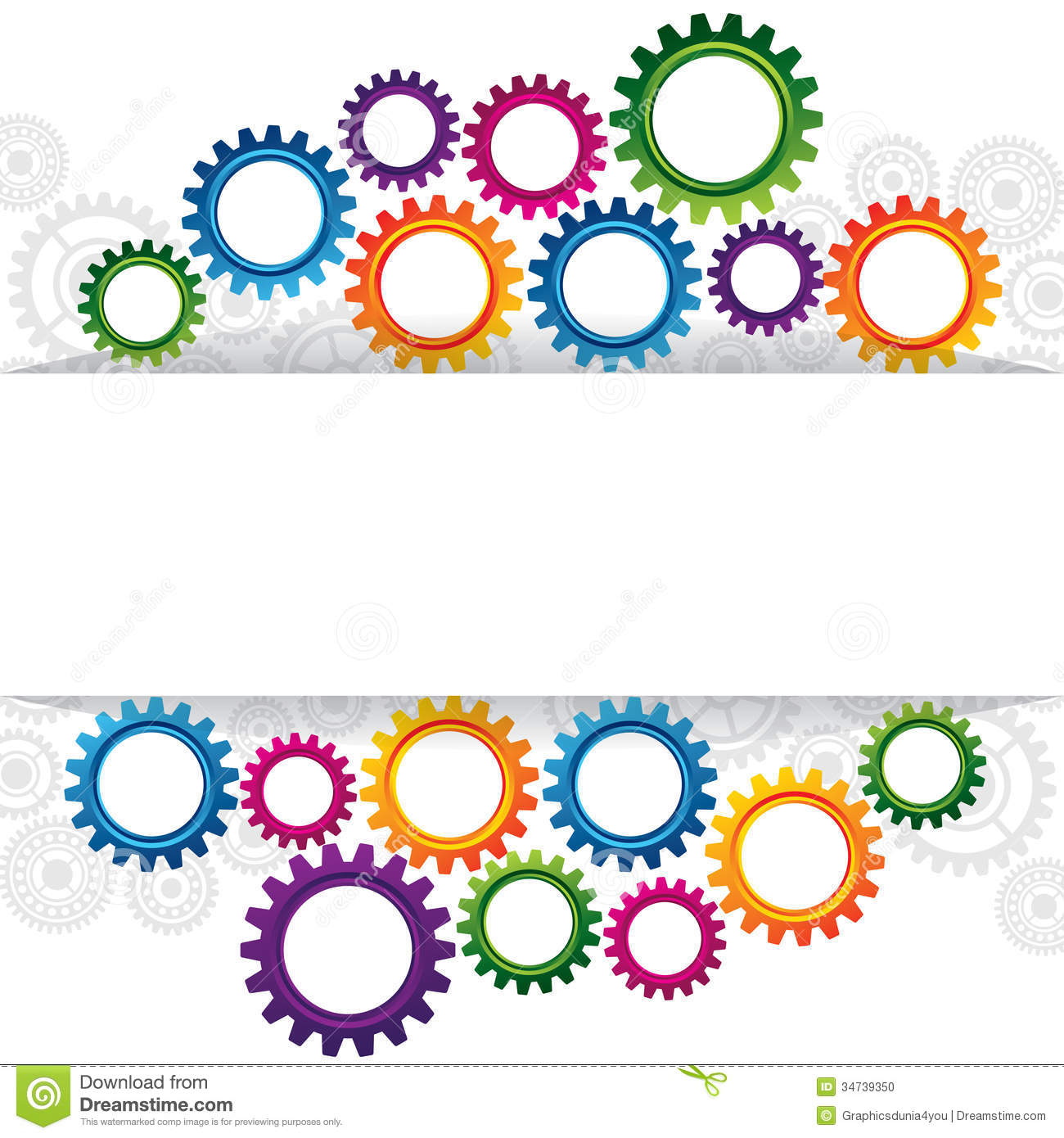 Abstract web design with copy space in cog wheel stock for Copy design