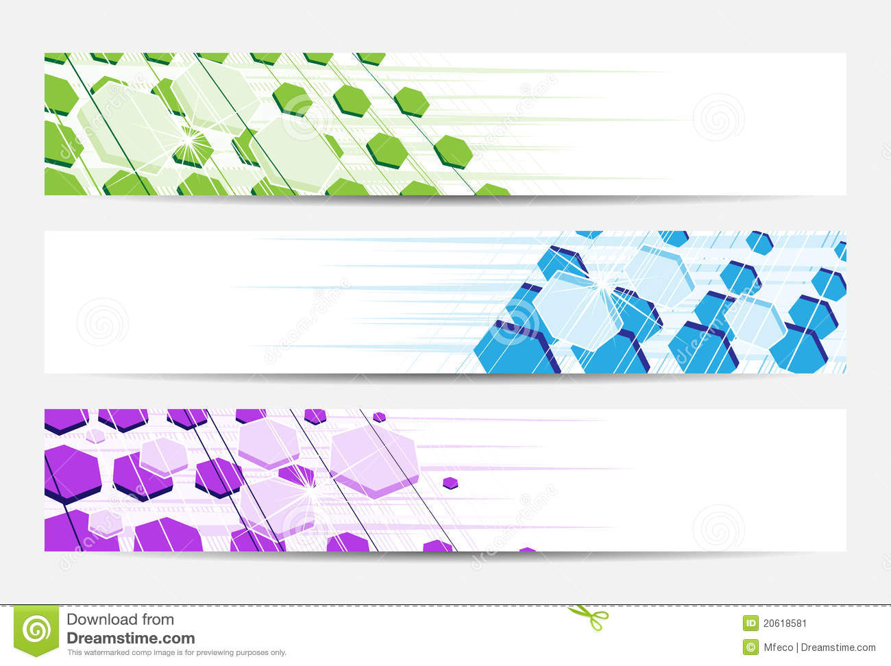 Abstract website banner or header
